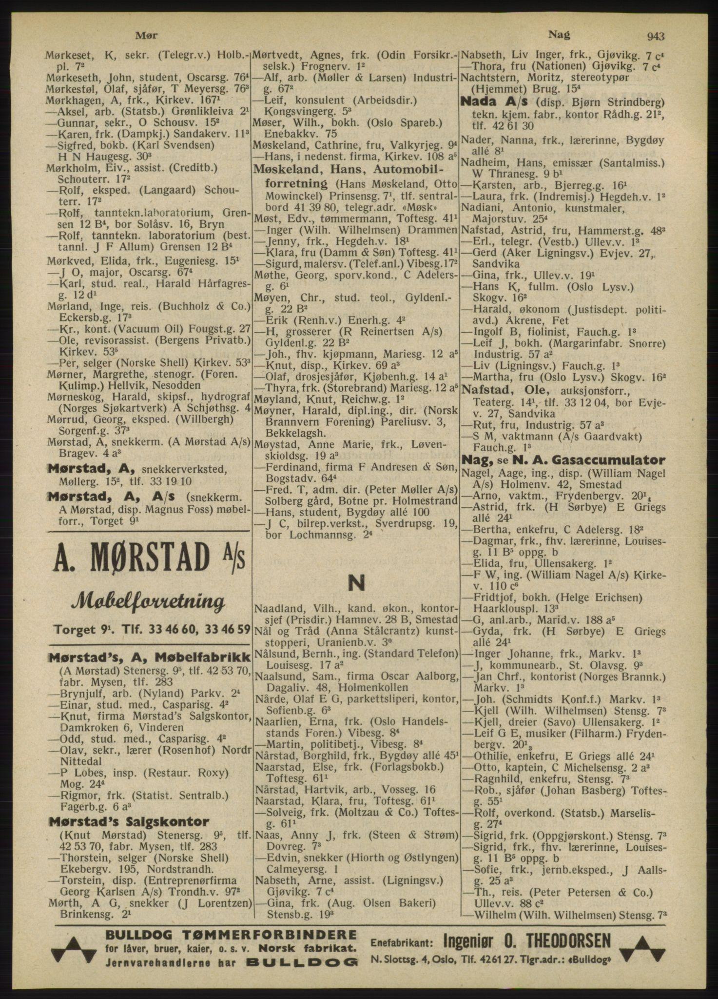 RA, Oslo adressebok (publikasjon)*, 1947, s. 943