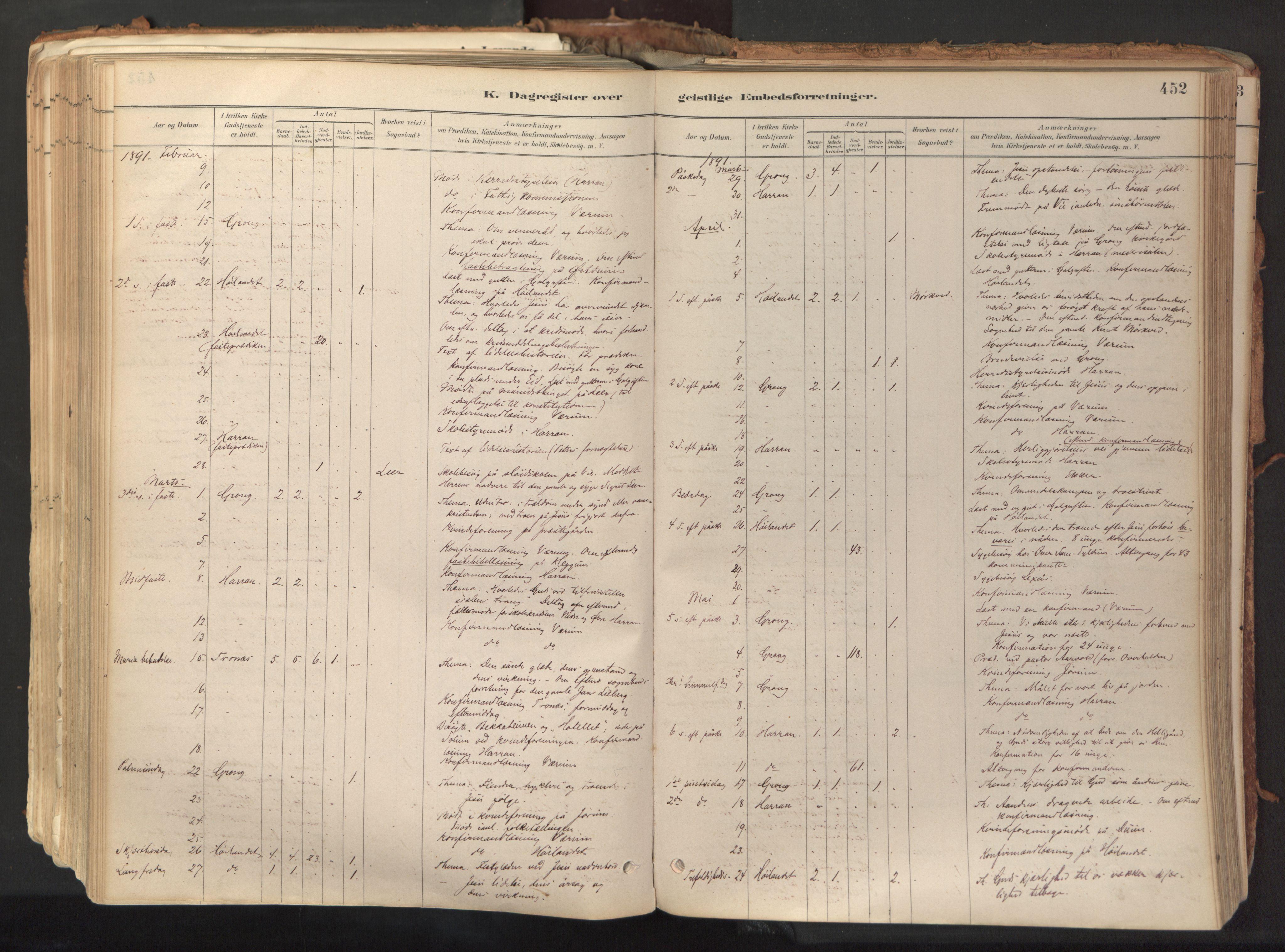 SAT, Ministerialprotokoller, klokkerbøker og fødselsregistre - Nord-Trøndelag, 758/L0519: Ministerialbok nr. 758A04, 1880-1926, s. 452