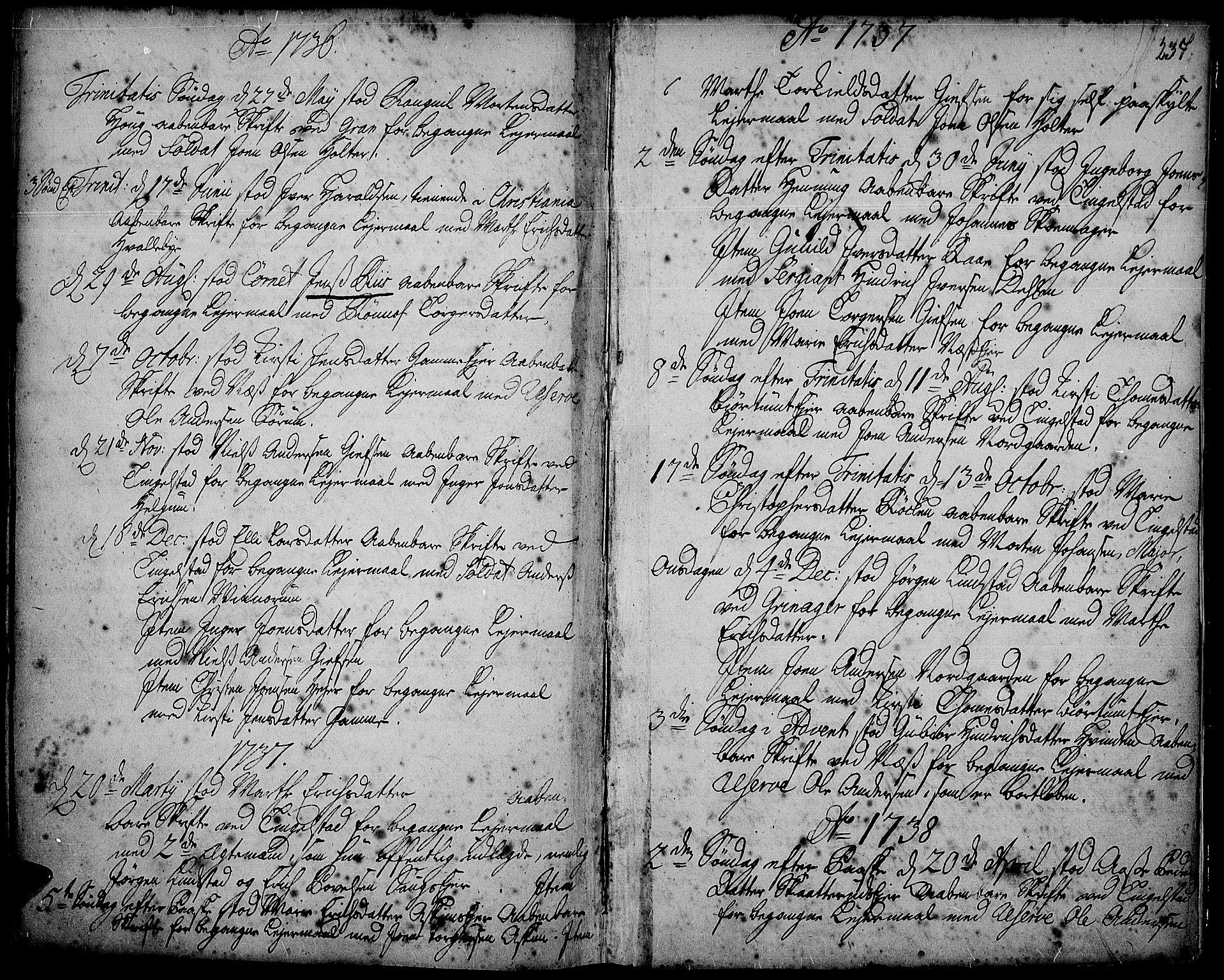 SAH, Gran prestekontor, Ministerialbok nr. 2, 1732-1744, s. 237
