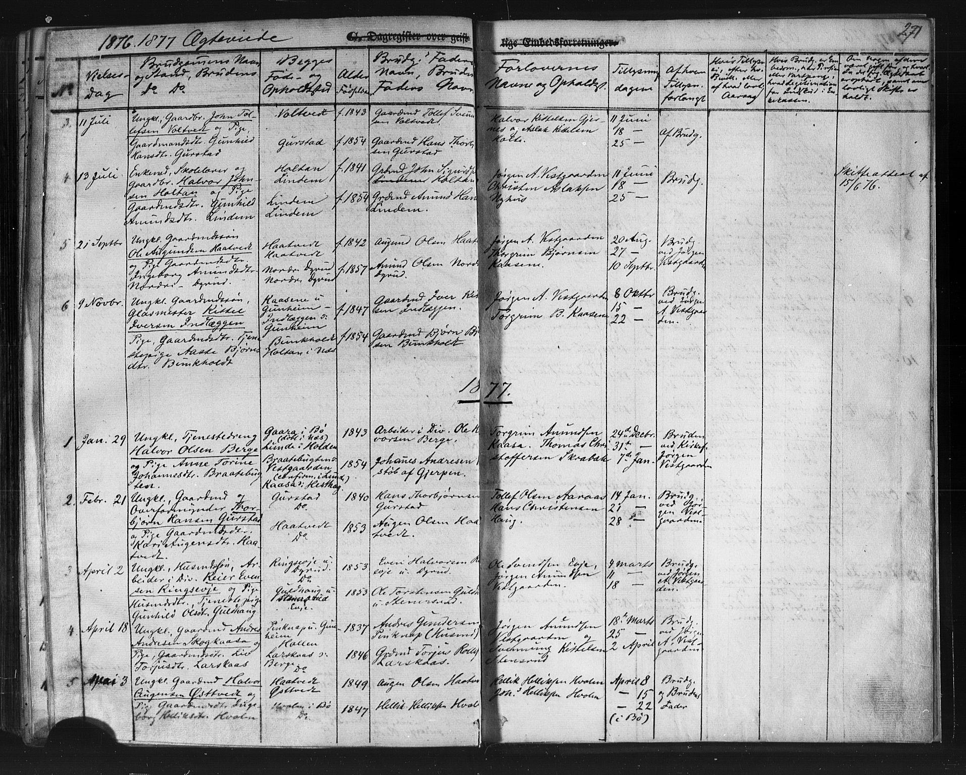 SAKO, Sauherad kirkebøker, F/Fb/L0001: Ministerialbok nr. II 1, 1851-1877, s. 271