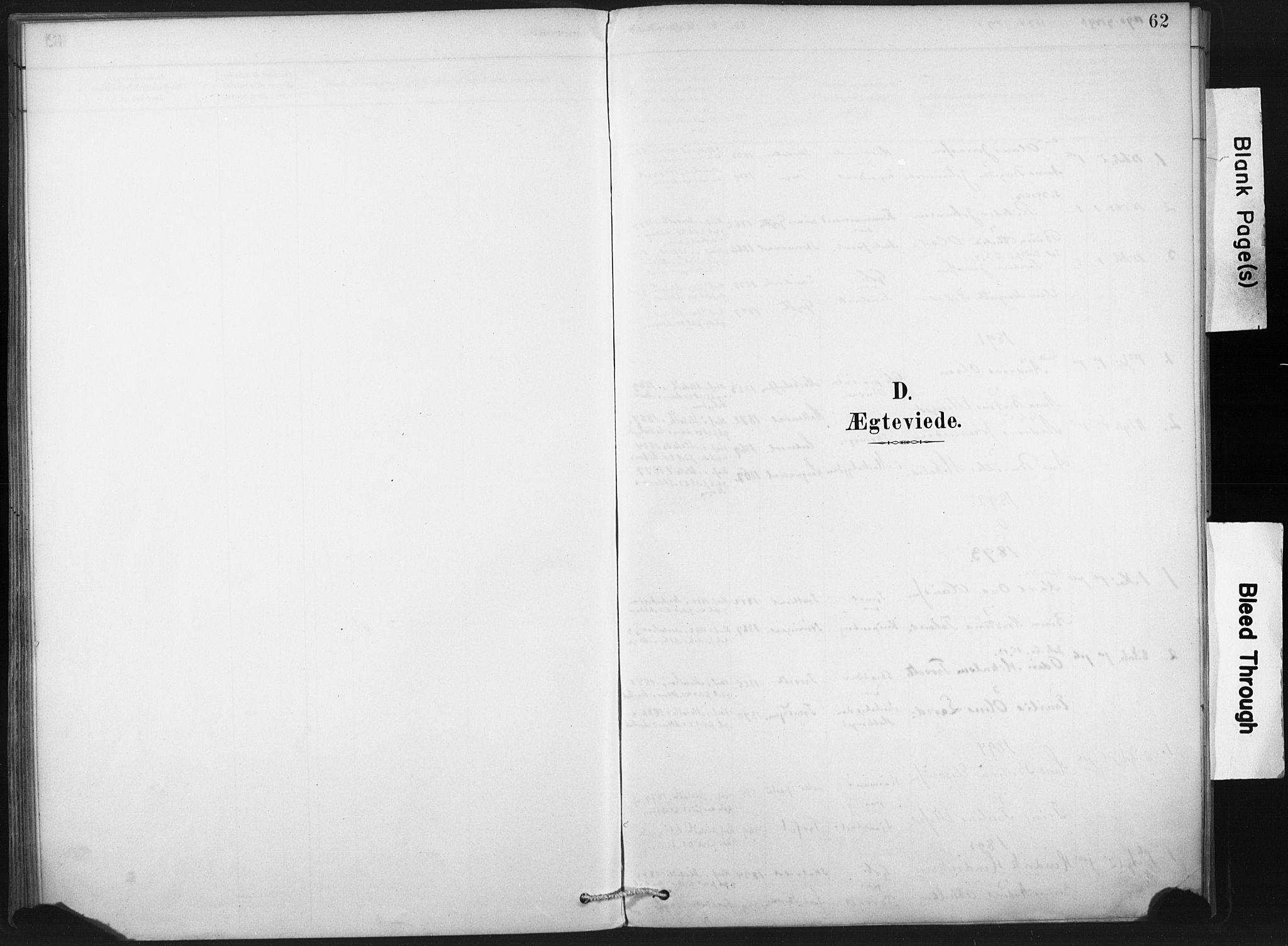 SAT, Ministerialprotokoller, klokkerbøker og fødselsregistre - Nord-Trøndelag, 718/L0175: Ministerialbok nr. 718A01, 1890-1923, s. 62