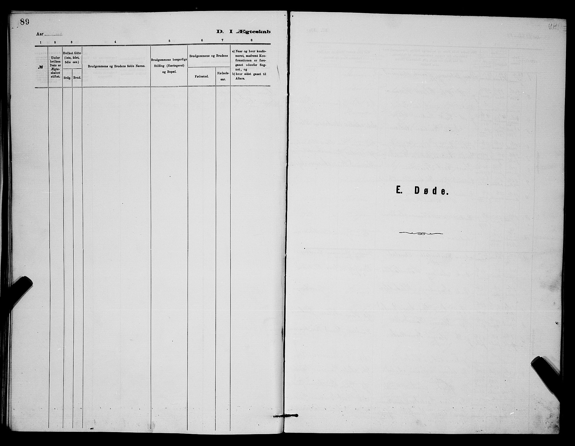 SAKO, Holla kirkebøker, G/Gb/L0001: Klokkerbok nr. II 1, 1882-1897, s. 89