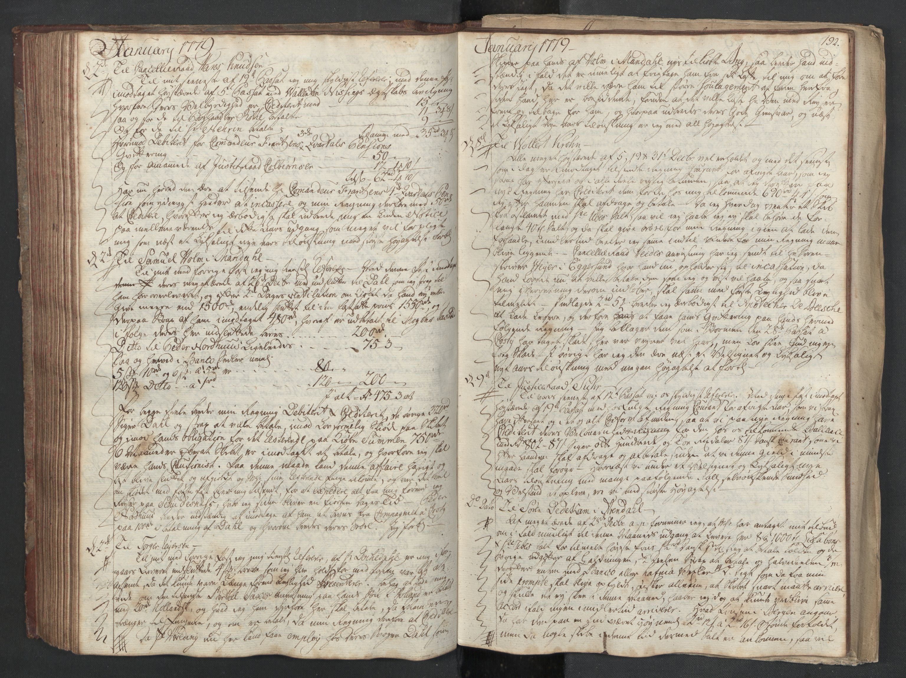 SAST, Pa 0003 - Ploug & Sundt, handelshuset, B/L0003: Kopibok, 1775-1780, s. 191b-192a