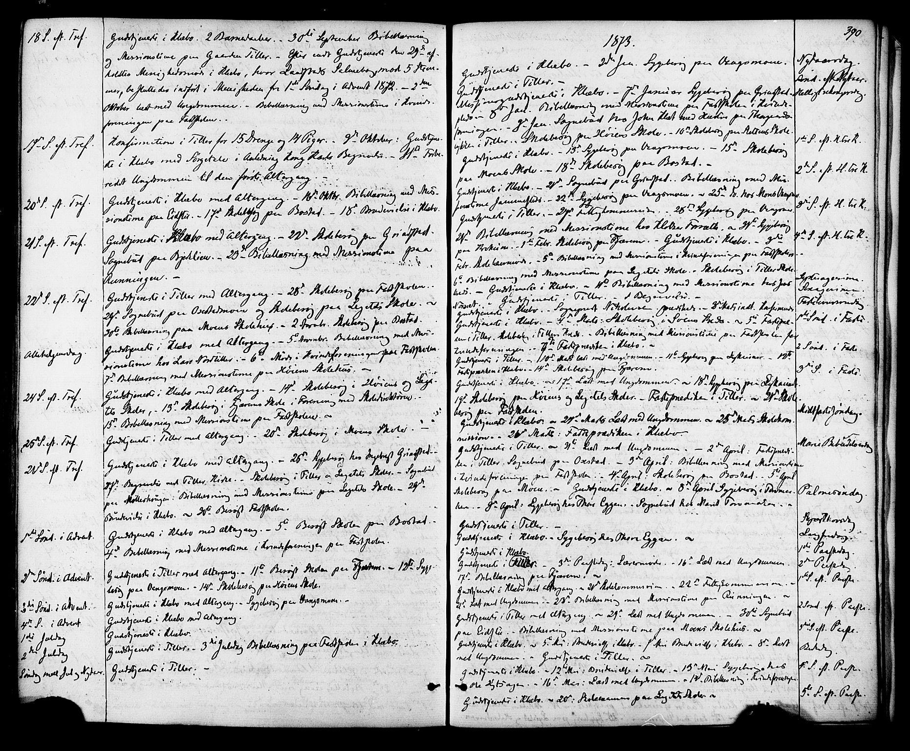 SAT, Ministerialprotokoller, klokkerbøker og fødselsregistre - Sør-Trøndelag, 618/L0442: Ministerialbok nr. 618A06 /1, 1863-1879, s. 390