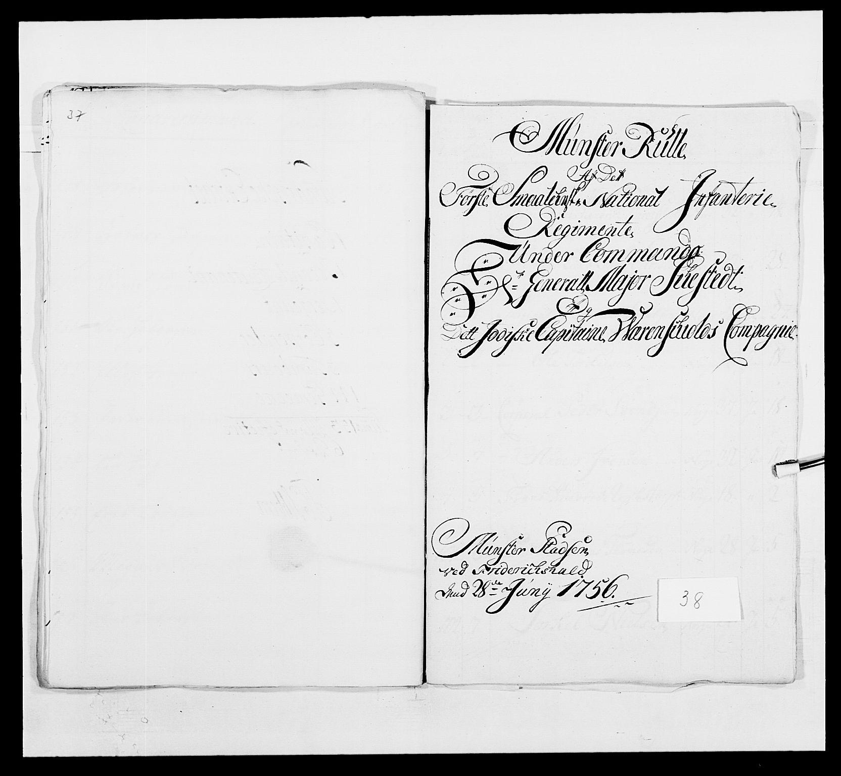 RA, Kommanderende general (KG I) med Det norske krigsdirektorium, E/Ea/L0495: 1. Smålenske regiment, 1732-1763, s. 531