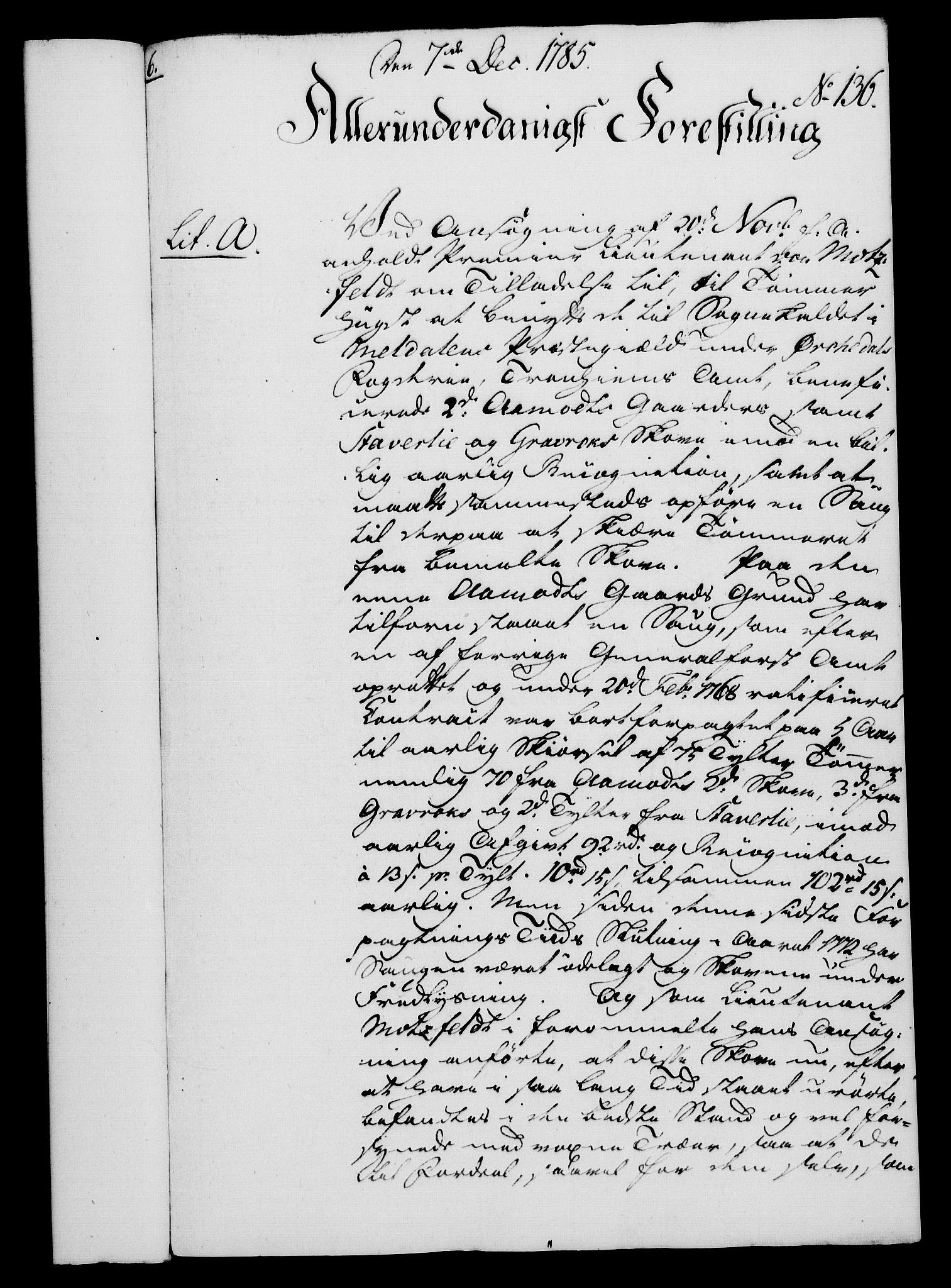 RA, Rentekammeret, Kammerkanselliet, G/Gf/Gfa/L0067: Norsk relasjons- og resolusjonsprotokoll (merket RK 52.67), 1785, s. 1041