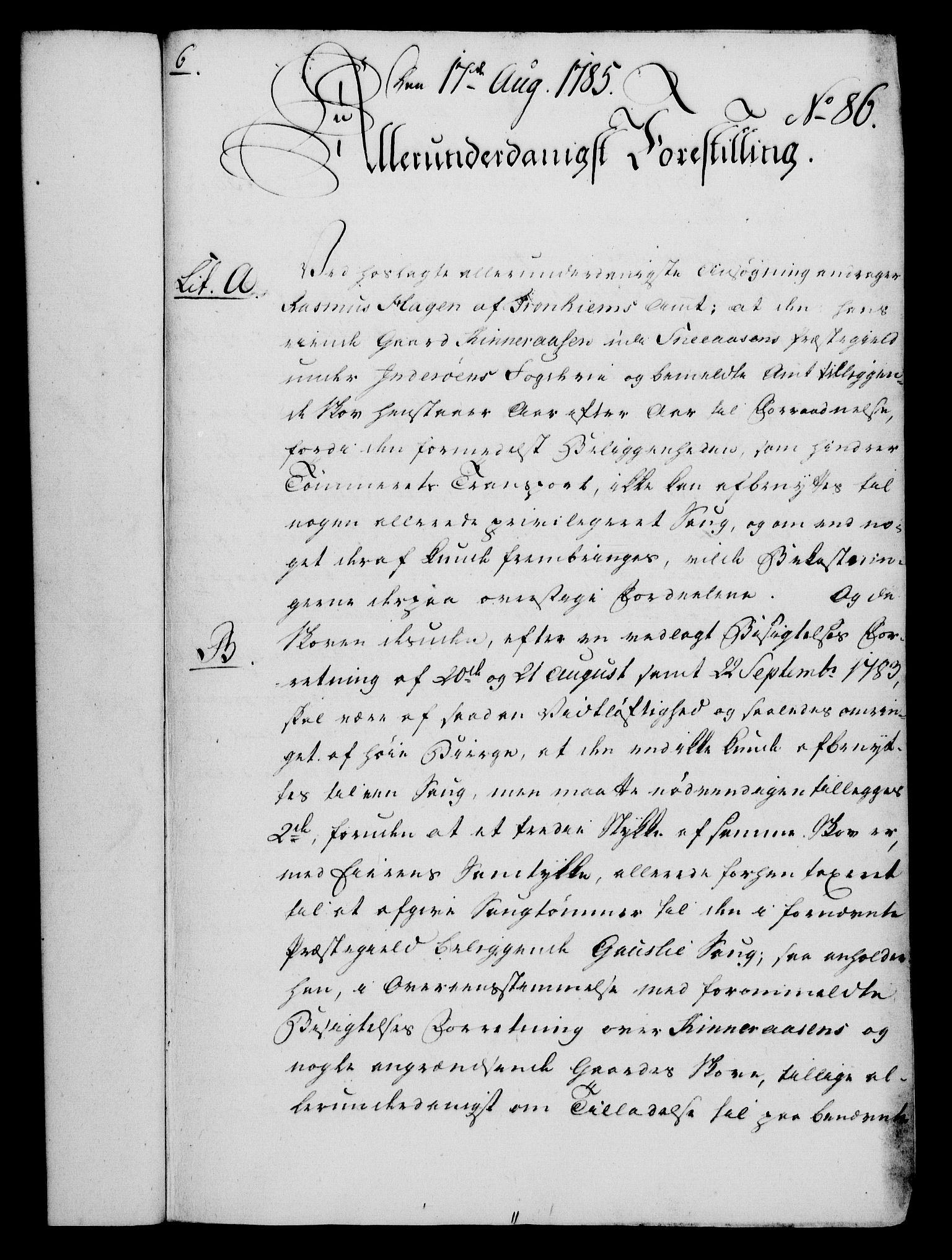 RA, Rentekammeret, Kammerkanselliet, G/Gf/Gfa/L0067: Norsk relasjons- og resolusjonsprotokoll (merket RK 52.67), 1785, s. 728