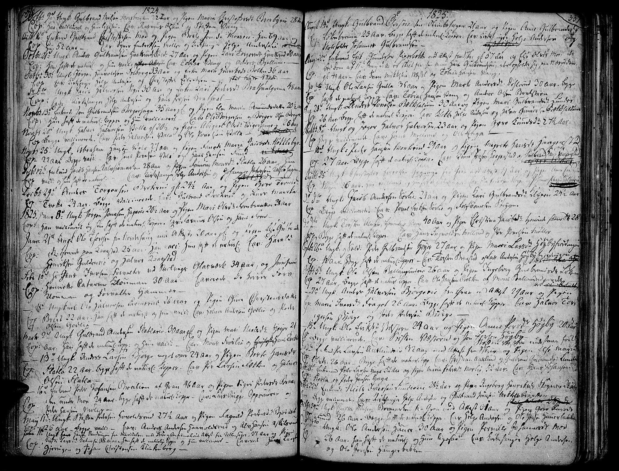 SAH, Jevnaker prestekontor, Ministerialbok nr. 4, 1800-1861, s. 336-337