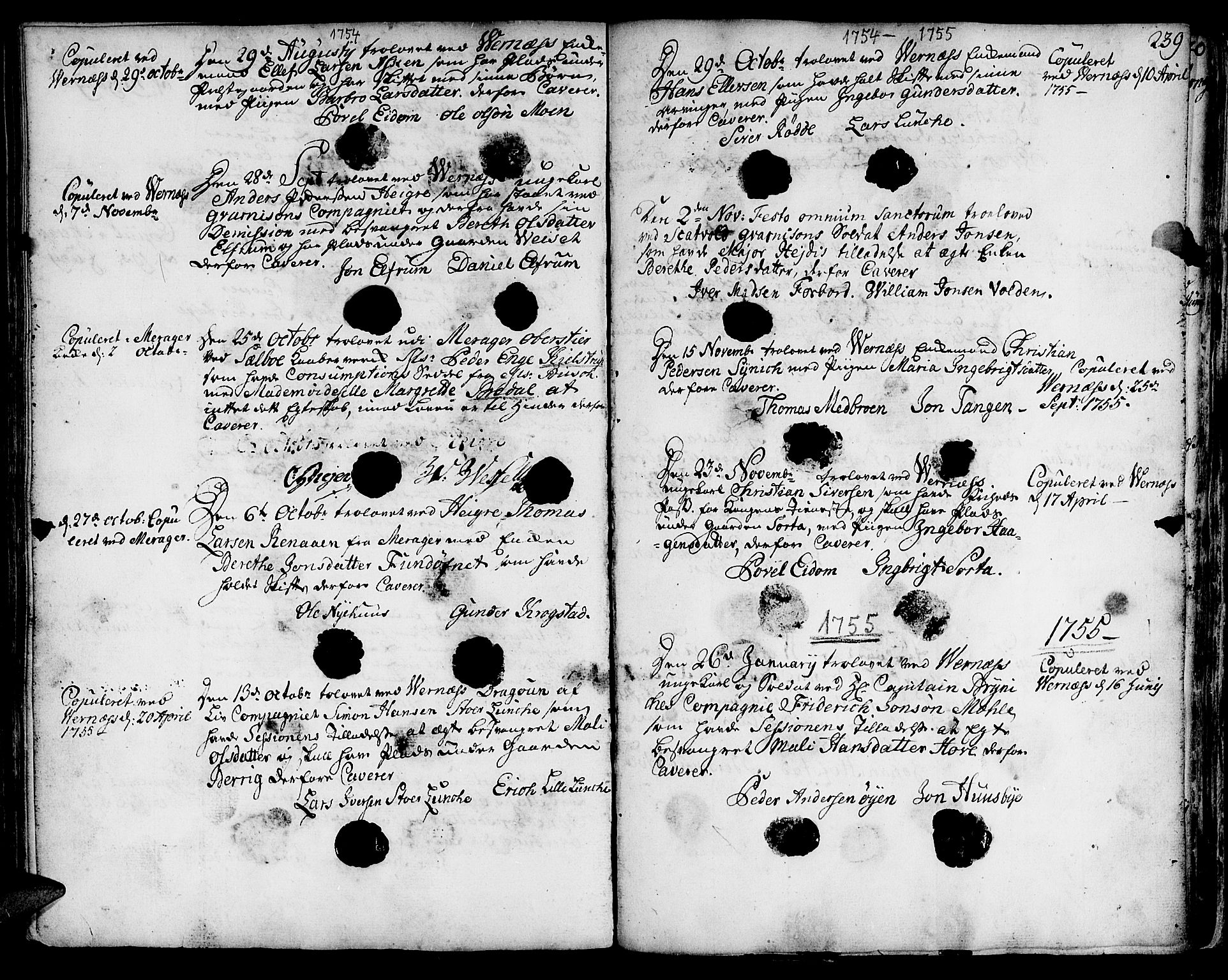 SAT, Ministerialprotokoller, klokkerbøker og fødselsregistre - Nord-Trøndelag, 709/L0056: Ministerialbok nr. 709A04, 1740-1756, s. 239