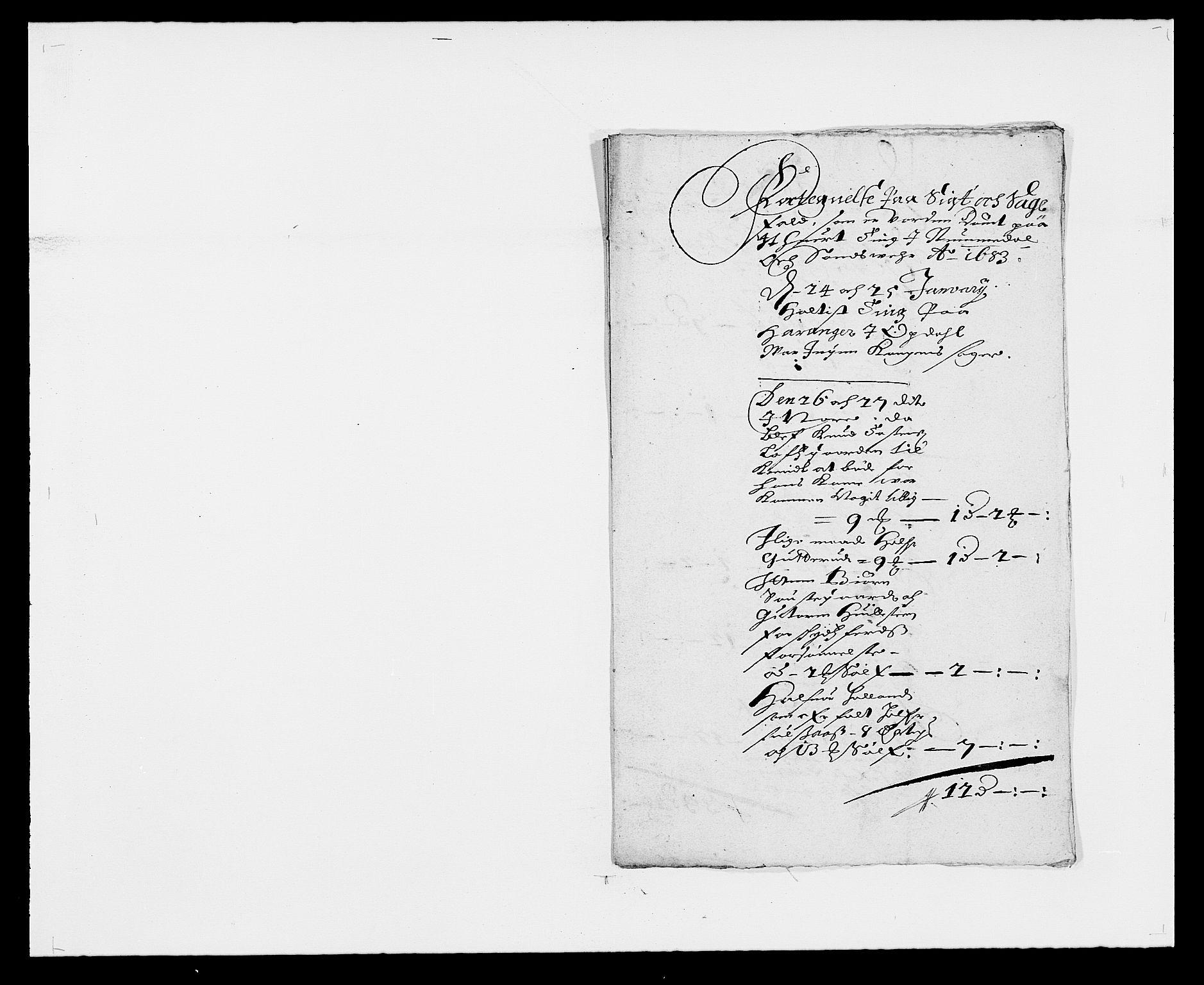 RA, Rentekammeret inntil 1814, Reviderte regnskaper, Fogderegnskap, R24/L1570: Fogderegnskap Numedal og Sandsvær, 1679-1686, s. 189