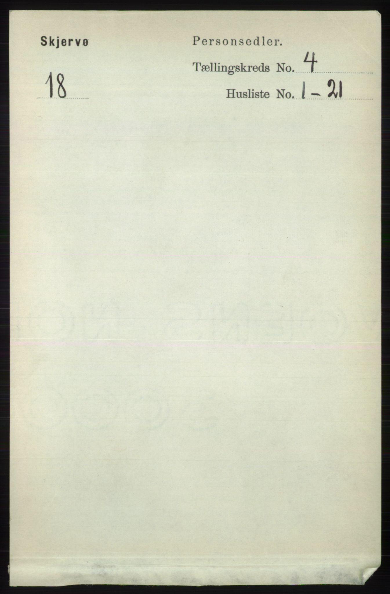 RA, Folketelling 1891 for 1941 Skjervøy herred, 1891, s. 2300