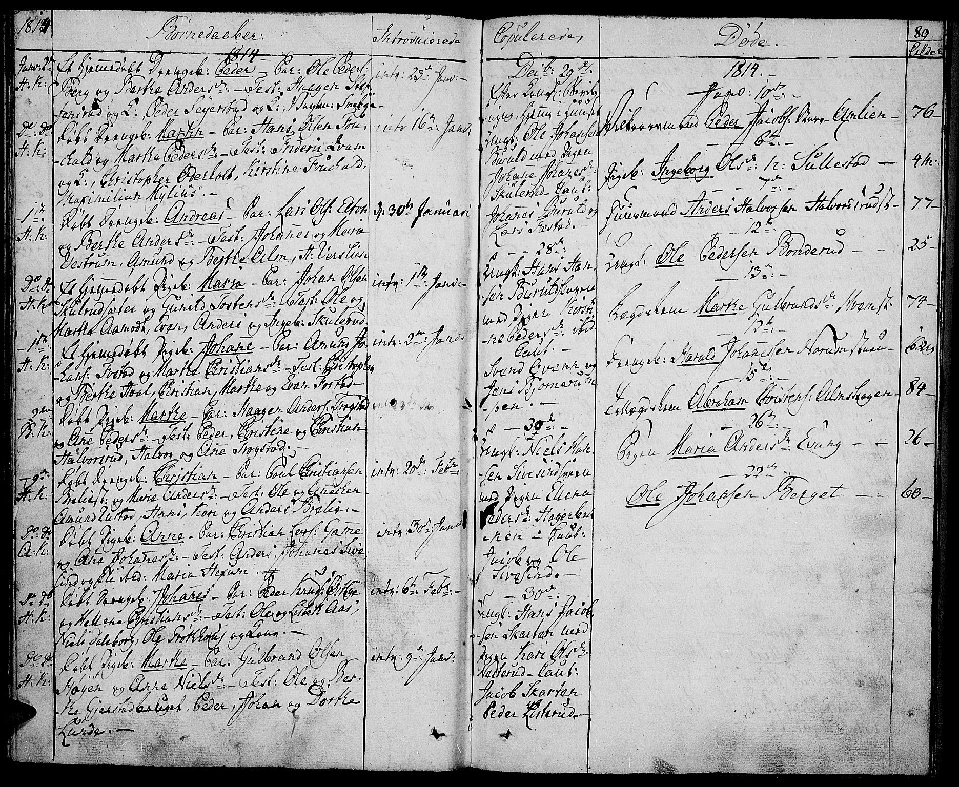 SAH, Toten prestekontor, Ministerialbok nr. 8, 1809-1814, s. 89