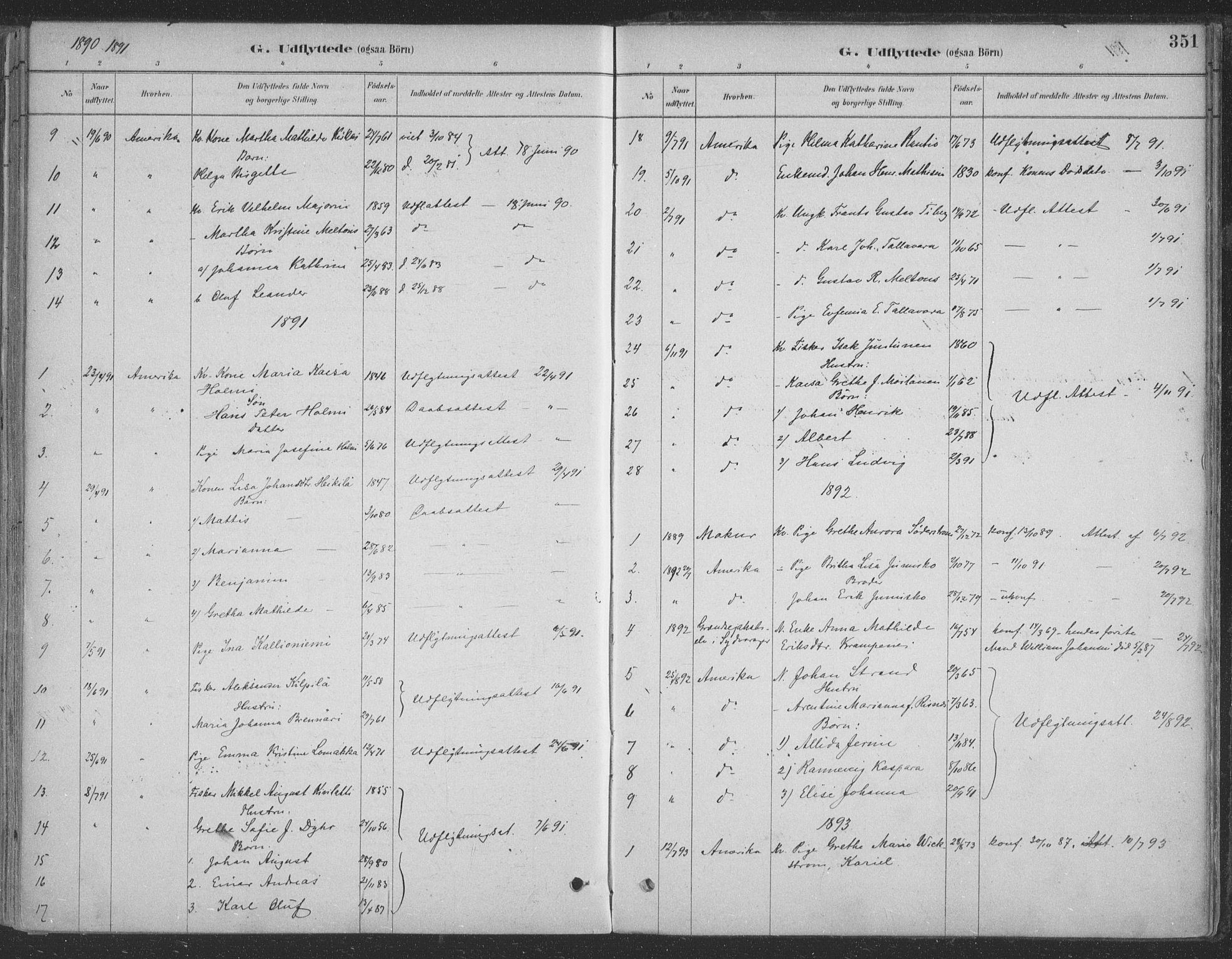 SATØ, Vadsø sokneprestkontor, H/Ha/L0009kirke: Ministerialbok nr. 9, 1881-1917, s. 351