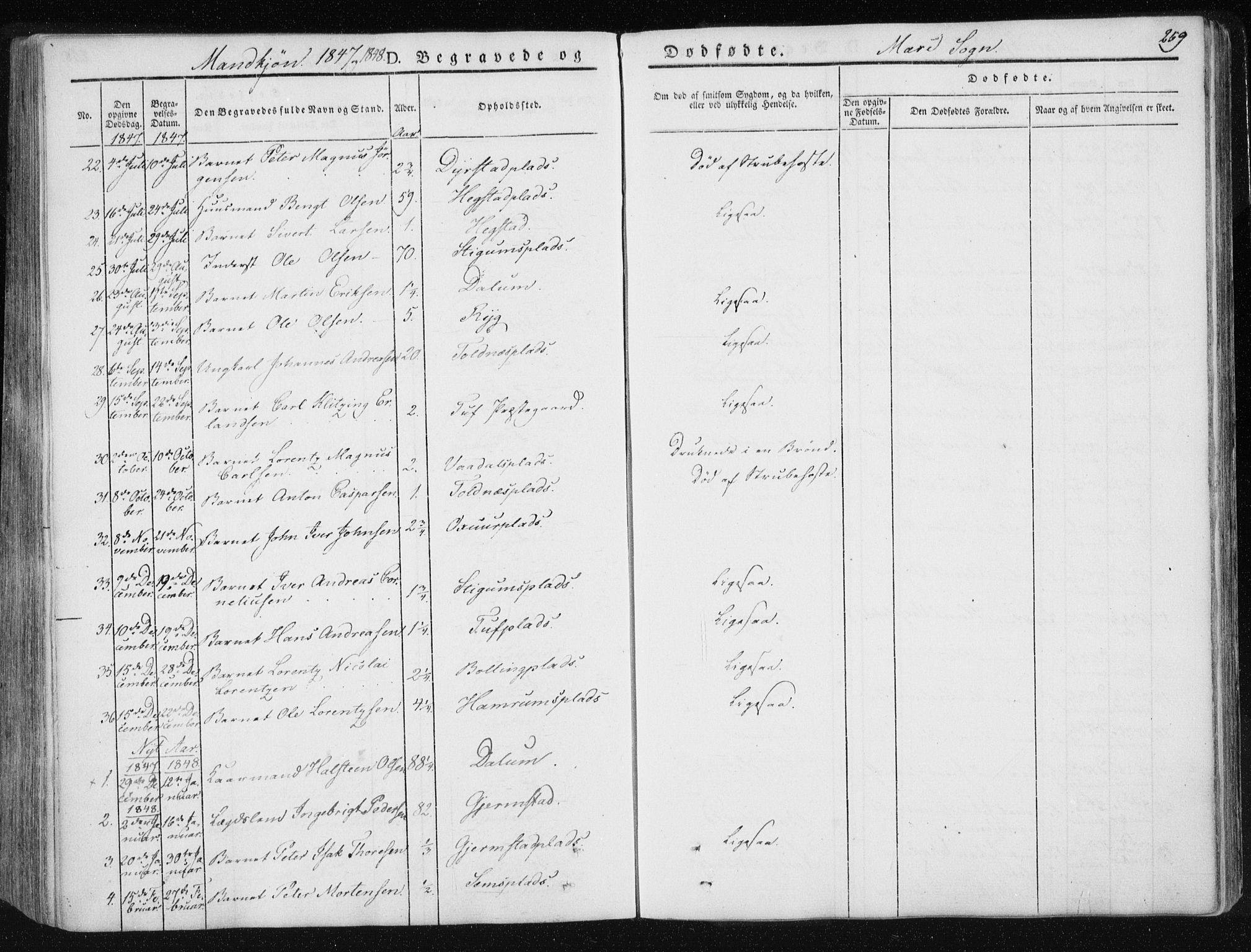 SAT, Ministerialprotokoller, klokkerbøker og fødselsregistre - Nord-Trøndelag, 735/L0339: Ministerialbok nr. 735A06 /1, 1836-1848, s. 259