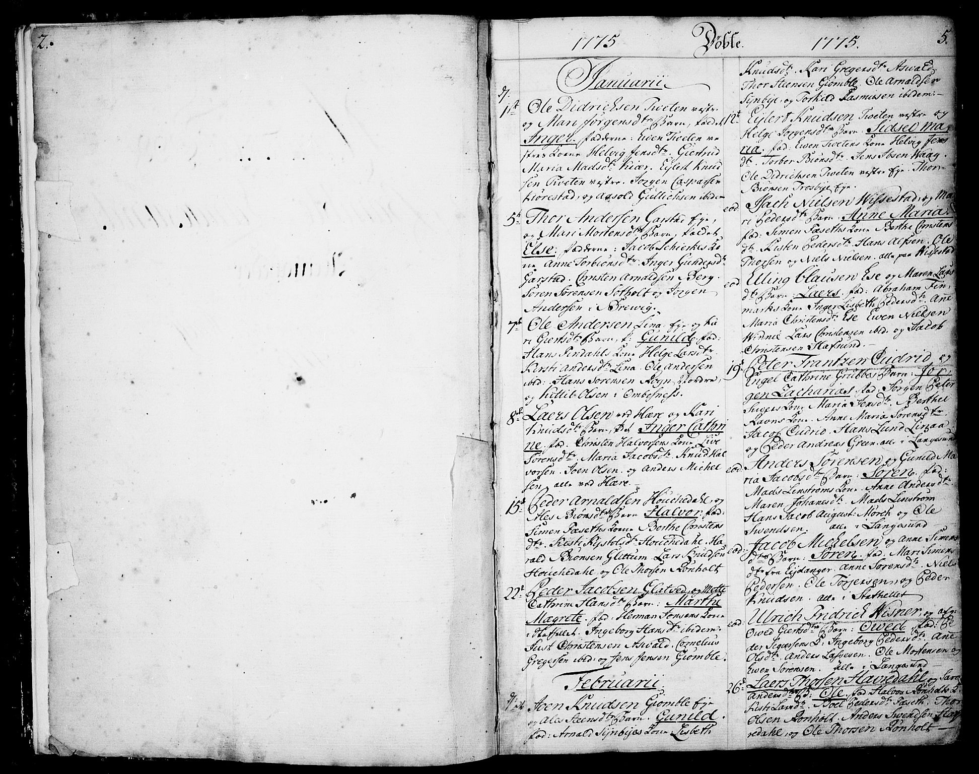 SAKO, Bamble kirkebøker, F/Fa/L0002: Ministerialbok nr. I 2, 1775-1814, s. 4-5