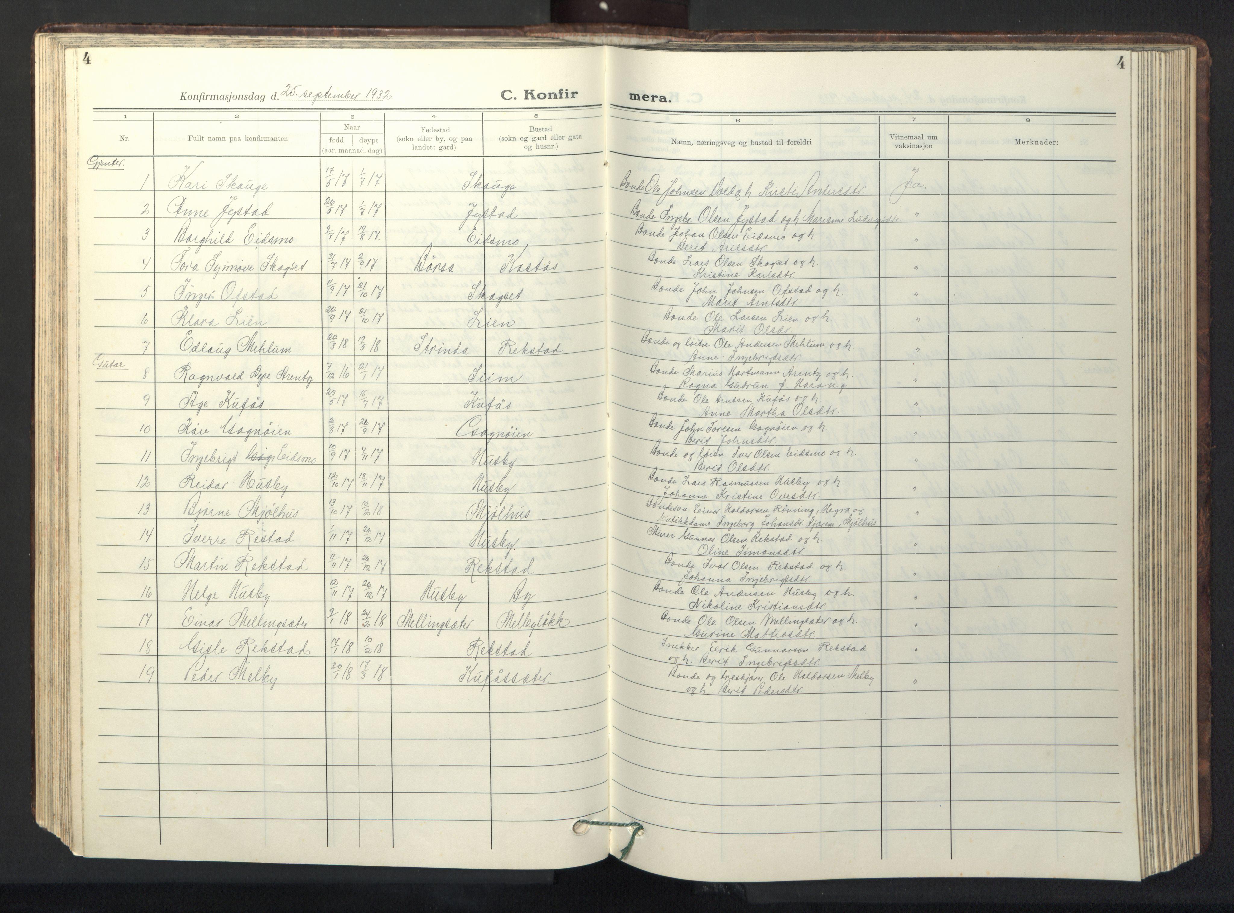 SAT, Ministerialprotokoller, klokkerbøker og fødselsregistre - Sør-Trøndelag, 667/L0799: Klokkerbok nr. 667C04, 1929-1950, s. 4