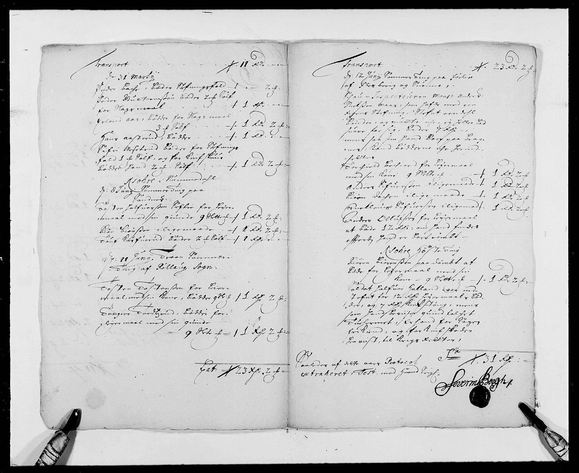 RA, Rentekammeret inntil 1814, Reviderte regnskaper, Fogderegnskap, R24/L1573: Fogderegnskap Numedal og Sandsvær, 1687-1691, s. 286