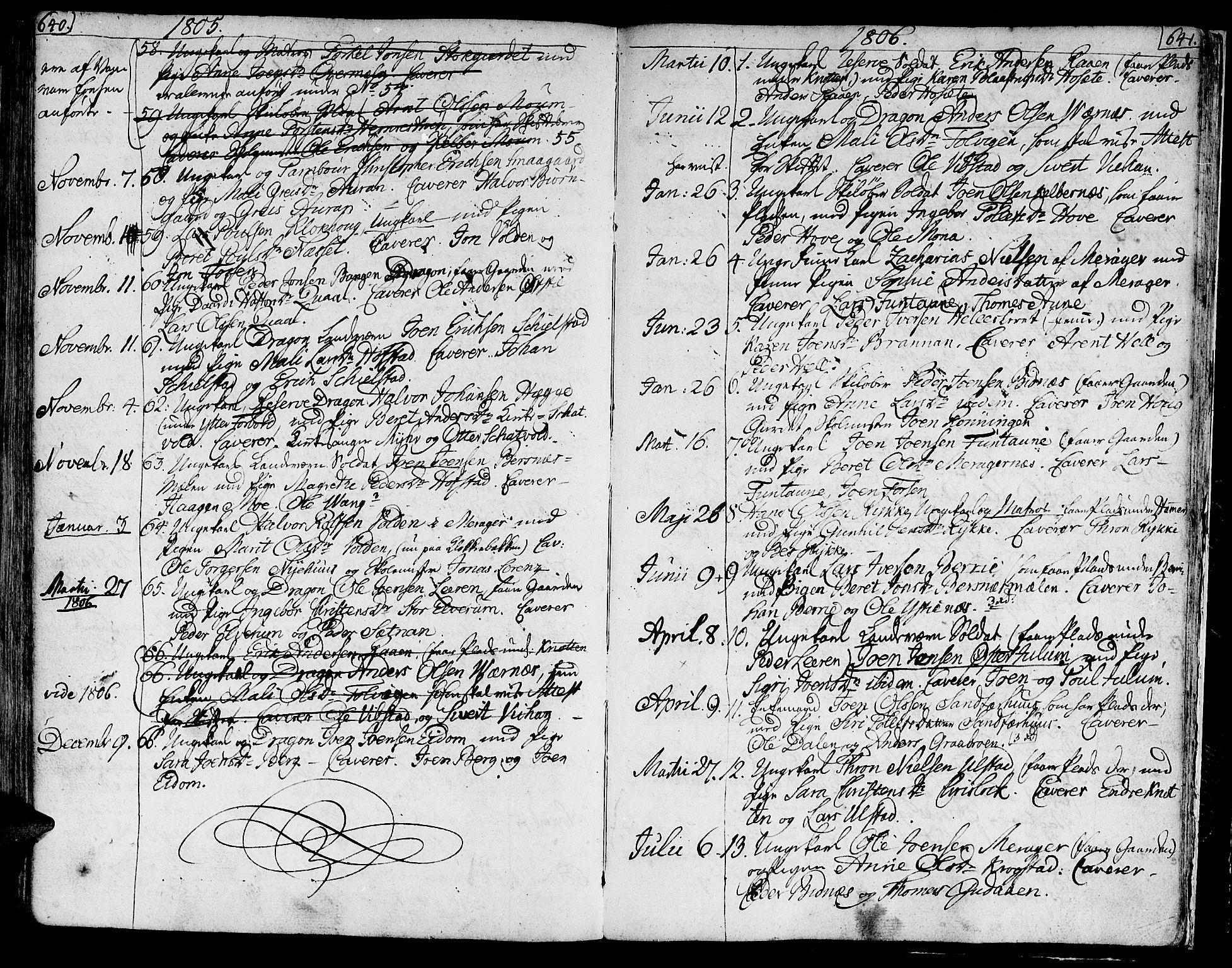 SAT, Ministerialprotokoller, klokkerbøker og fødselsregistre - Nord-Trøndelag, 709/L0060: Ministerialbok nr. 709A07, 1797-1815, s. 640-641