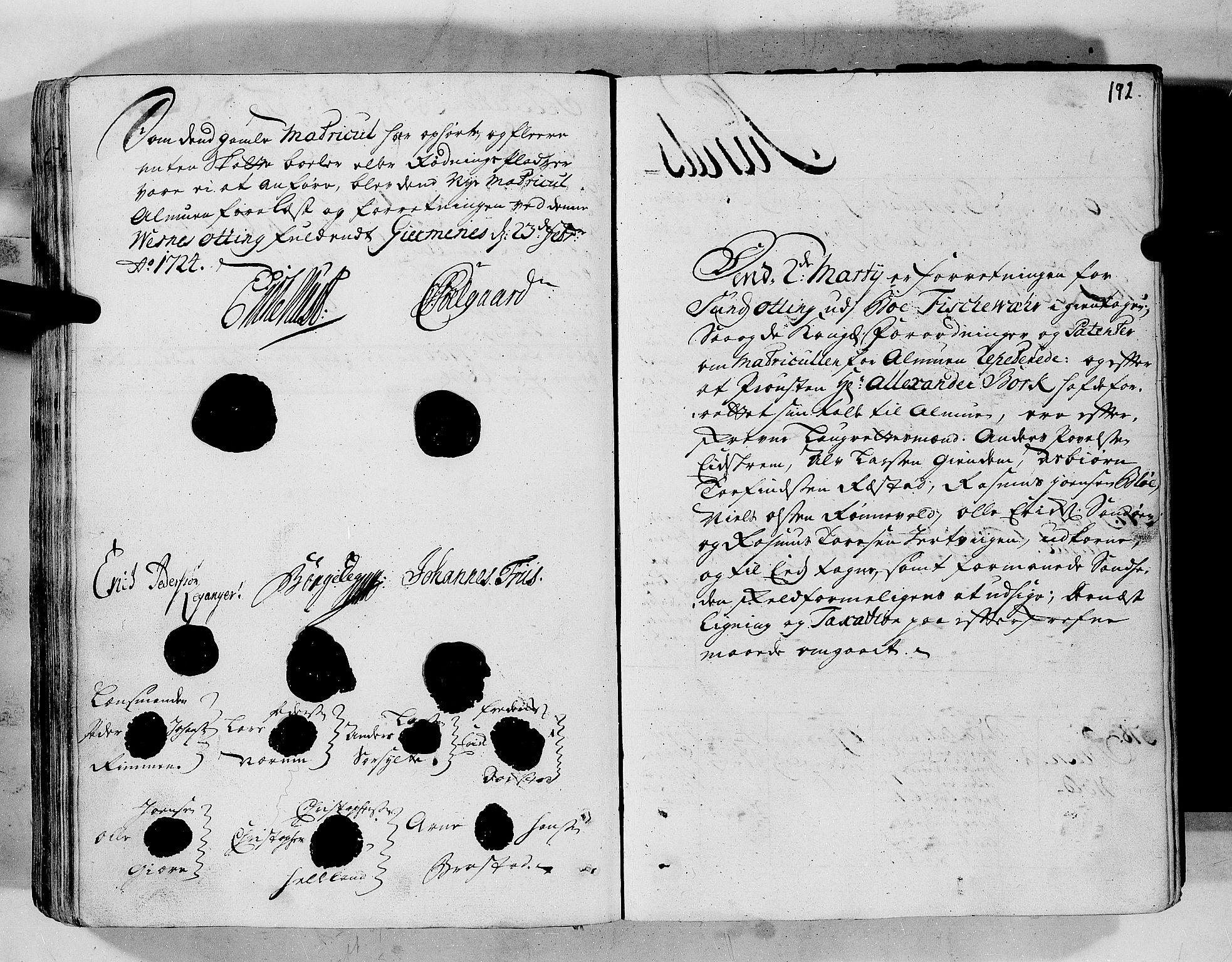 RA, Rentekammeret inntil 1814, Realistisk ordnet avdeling, N/Nb/Nbf/L0152: Romsdal eksaminasjonsprotokoll, 1724, s. 191b-192a