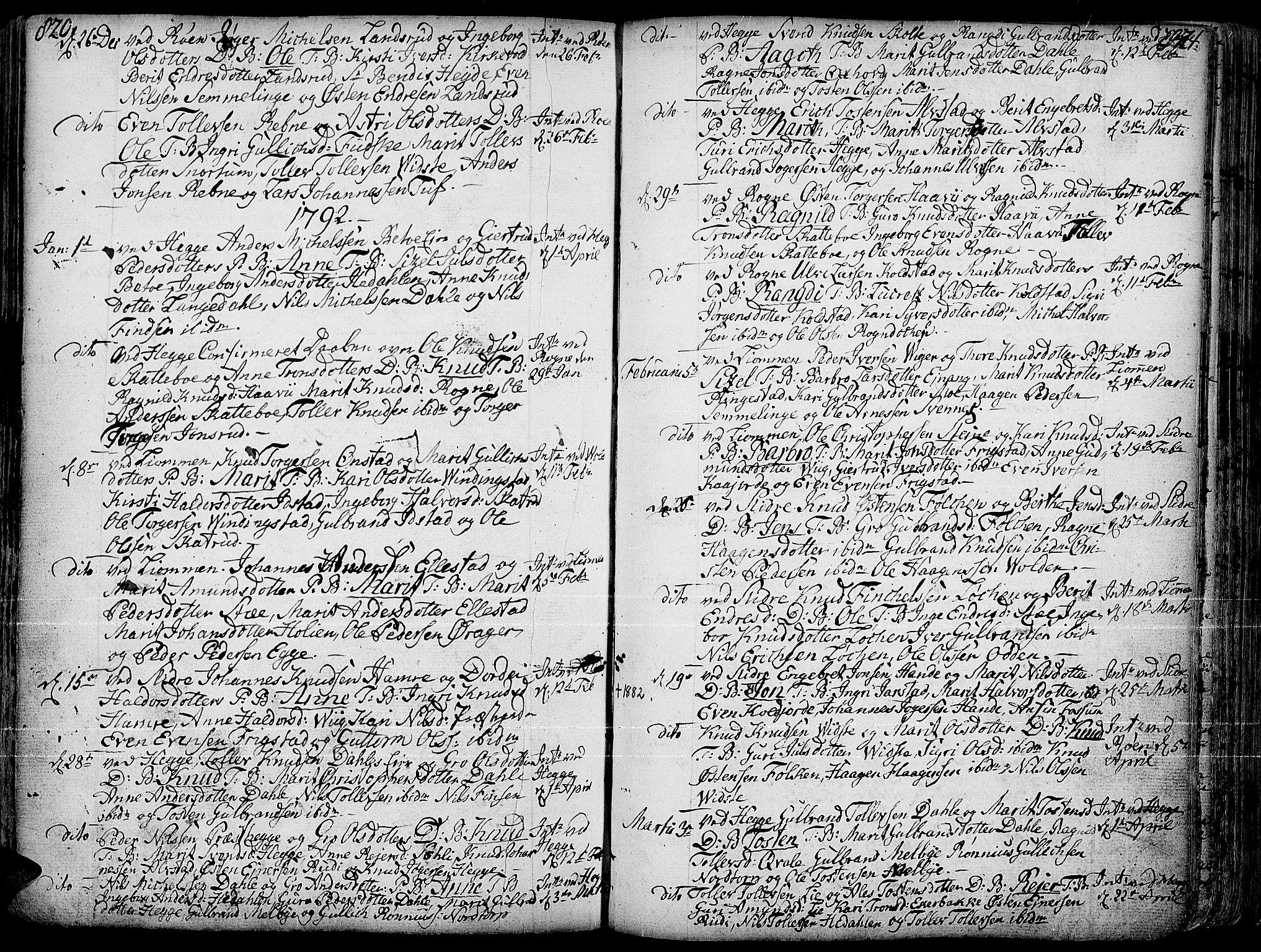 SAH, Slidre prestekontor, Ministerialbok nr. 1, 1724-1814, s. 820-821