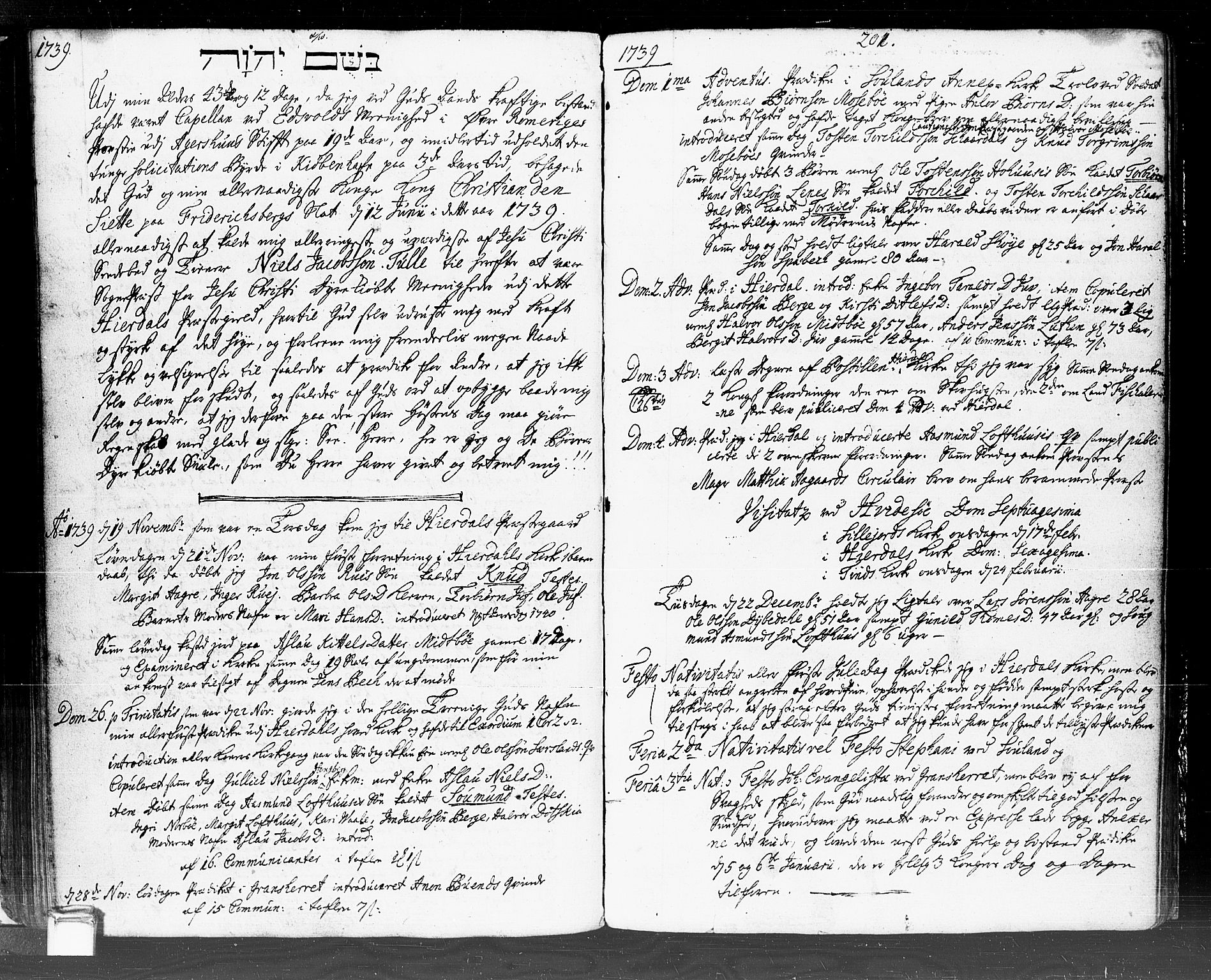 SAKO, Hjartdal kirkebøker, F/Fa/L0002: Ministerialbok nr. I 2, 1716-1754, s. 200-201