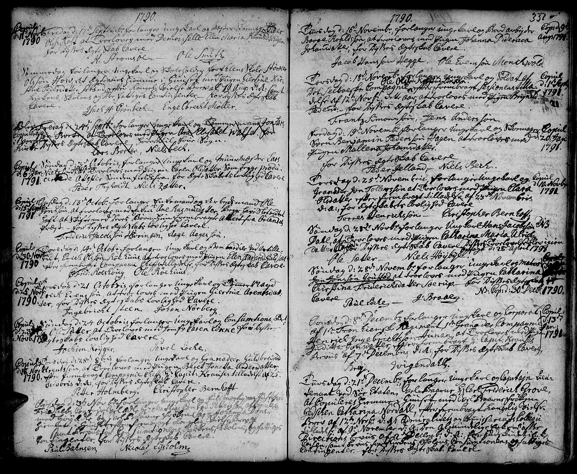SAT, Ministerialprotokoller, klokkerbøker og fødselsregistre - Sør-Trøndelag, 601/L0038: Ministerialbok nr. 601A06, 1766-1877, s. 337