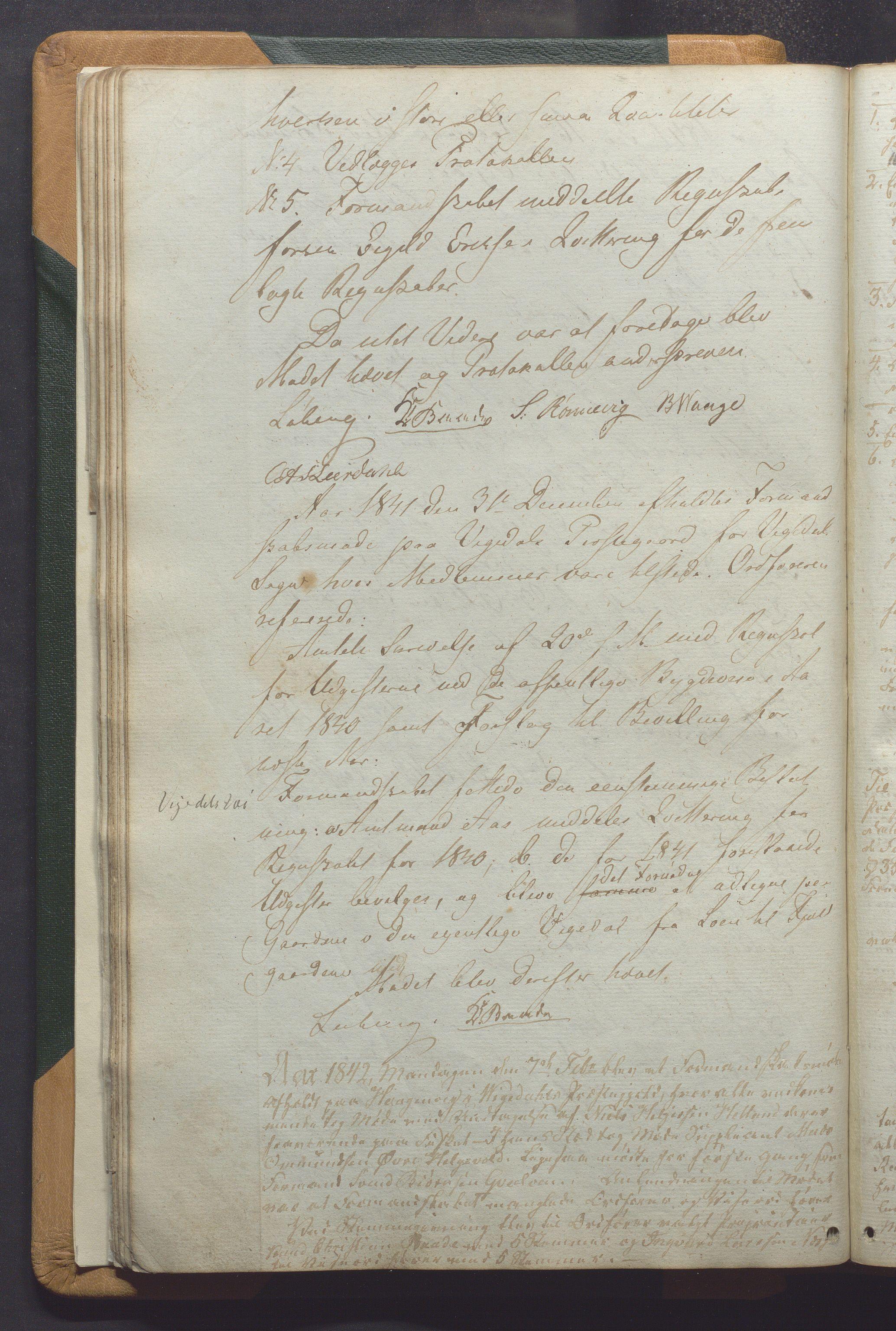 IKAR, Vikedal kommune - Formannskapet, Aaa/L0001: Møtebok, 1837-1874, s. 42b
