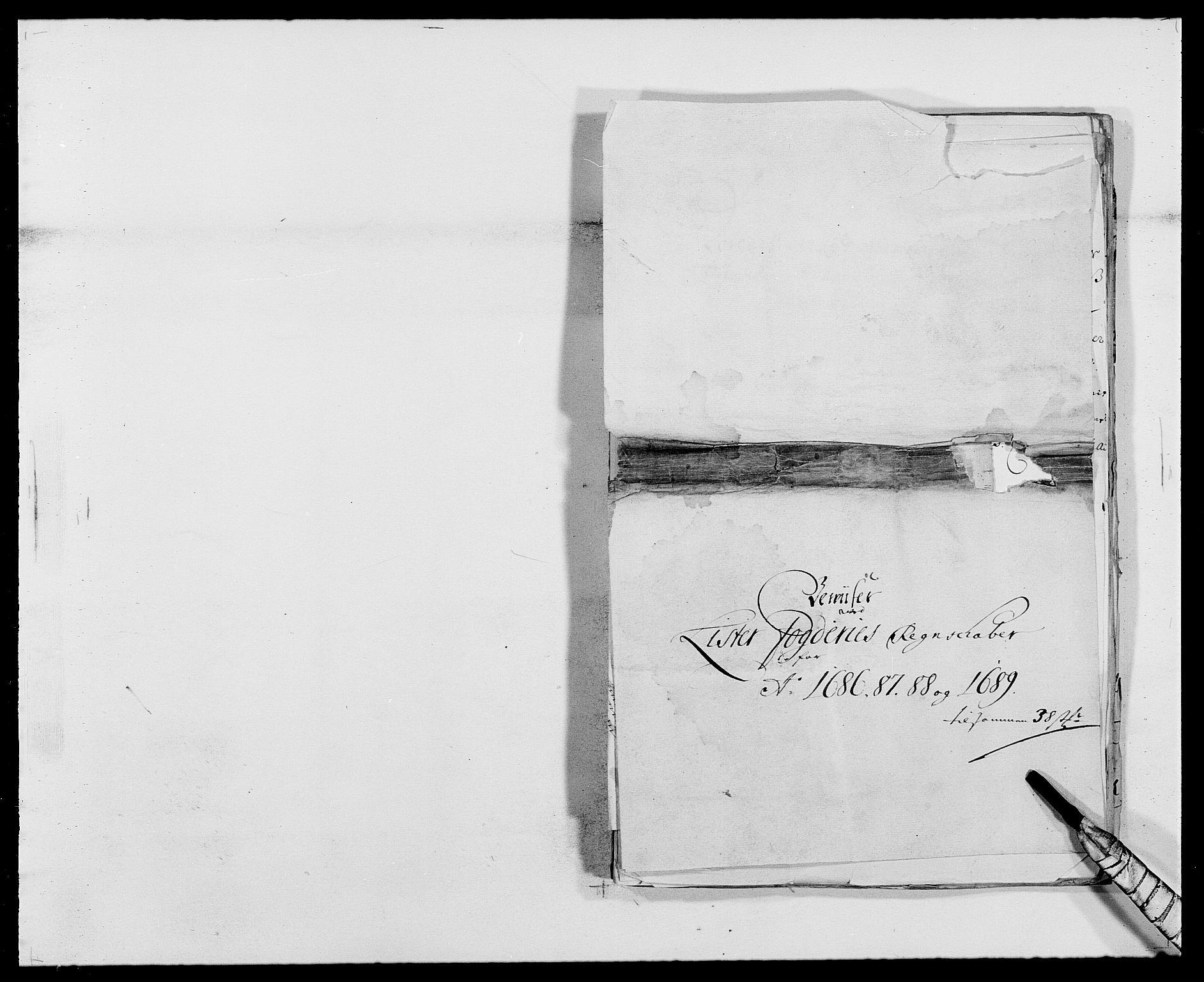 RA, Rentekammeret inntil 1814, Reviderte regnskaper, Fogderegnskap, R41/L2535: Fogderegnskap Lista, 1686-1689, s. 36