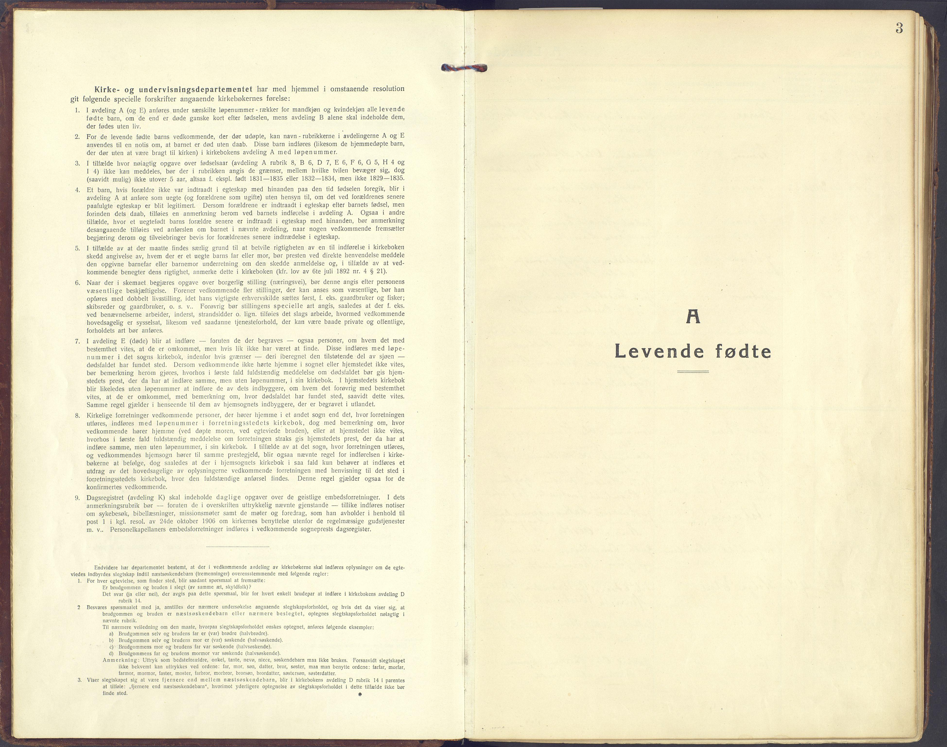 SAH, Sør-Fron prestekontor, H/Ha/Haa/L0005: Ministerialbok nr. 5, 1920-1933, s. 3