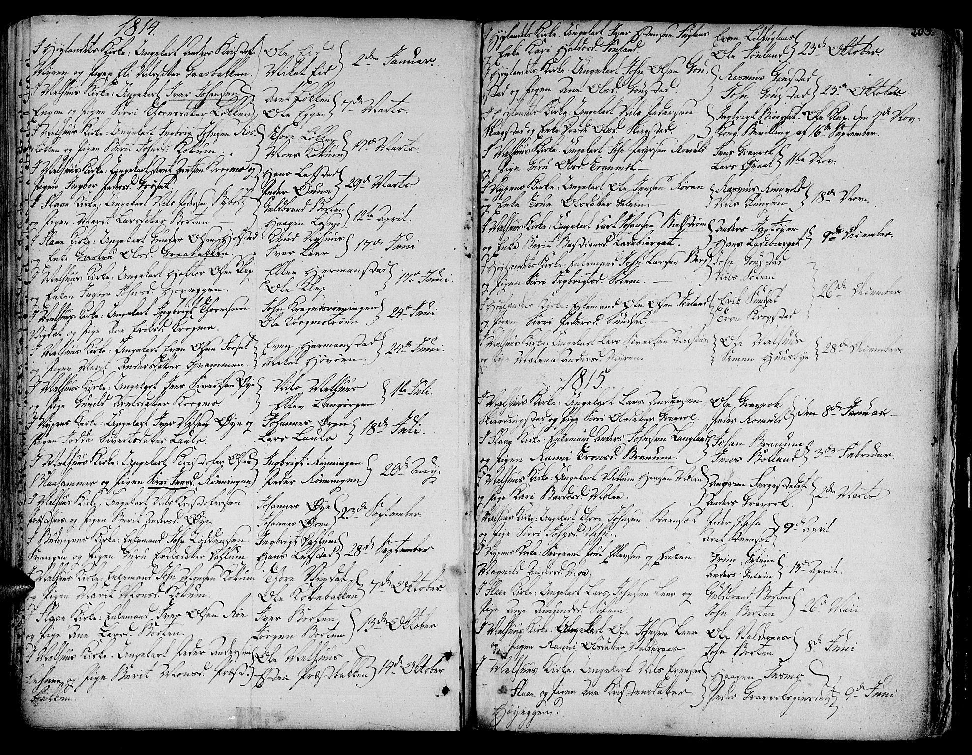 SAT, Ministerialprotokoller, klokkerbøker og fødselsregistre - Sør-Trøndelag, 691/L1061: Ministerialbok nr. 691A02 /1, 1768-1815, s. 203