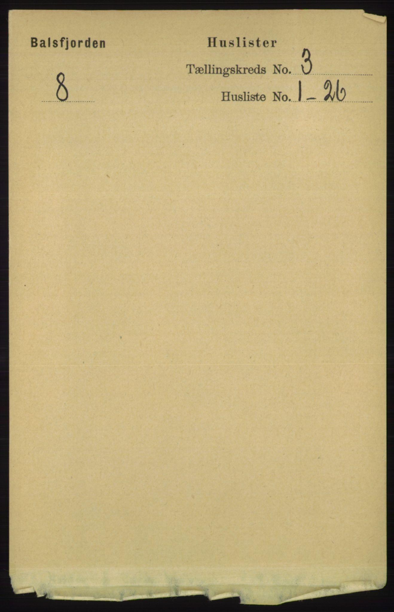 RA, Folketelling 1891 for 1933 Balsfjord herred, 1891, s. 819