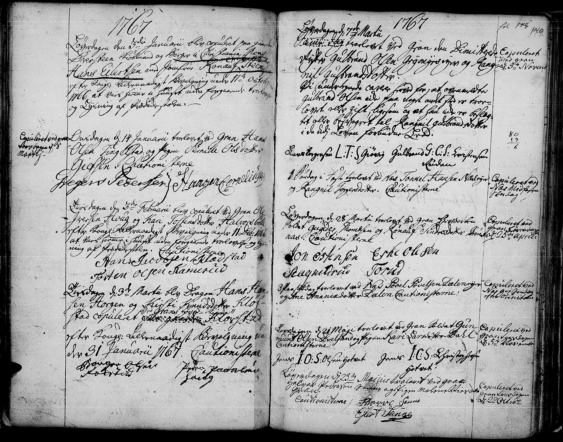 SAH, Gran prestekontor, Ministerialbok nr. 4, 1759-1775, s. 179