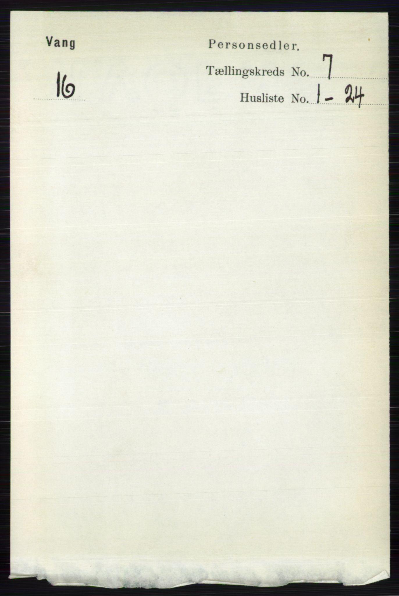 RA, Folketelling 1891 for 0545 Vang herred, 1891, s. 1416