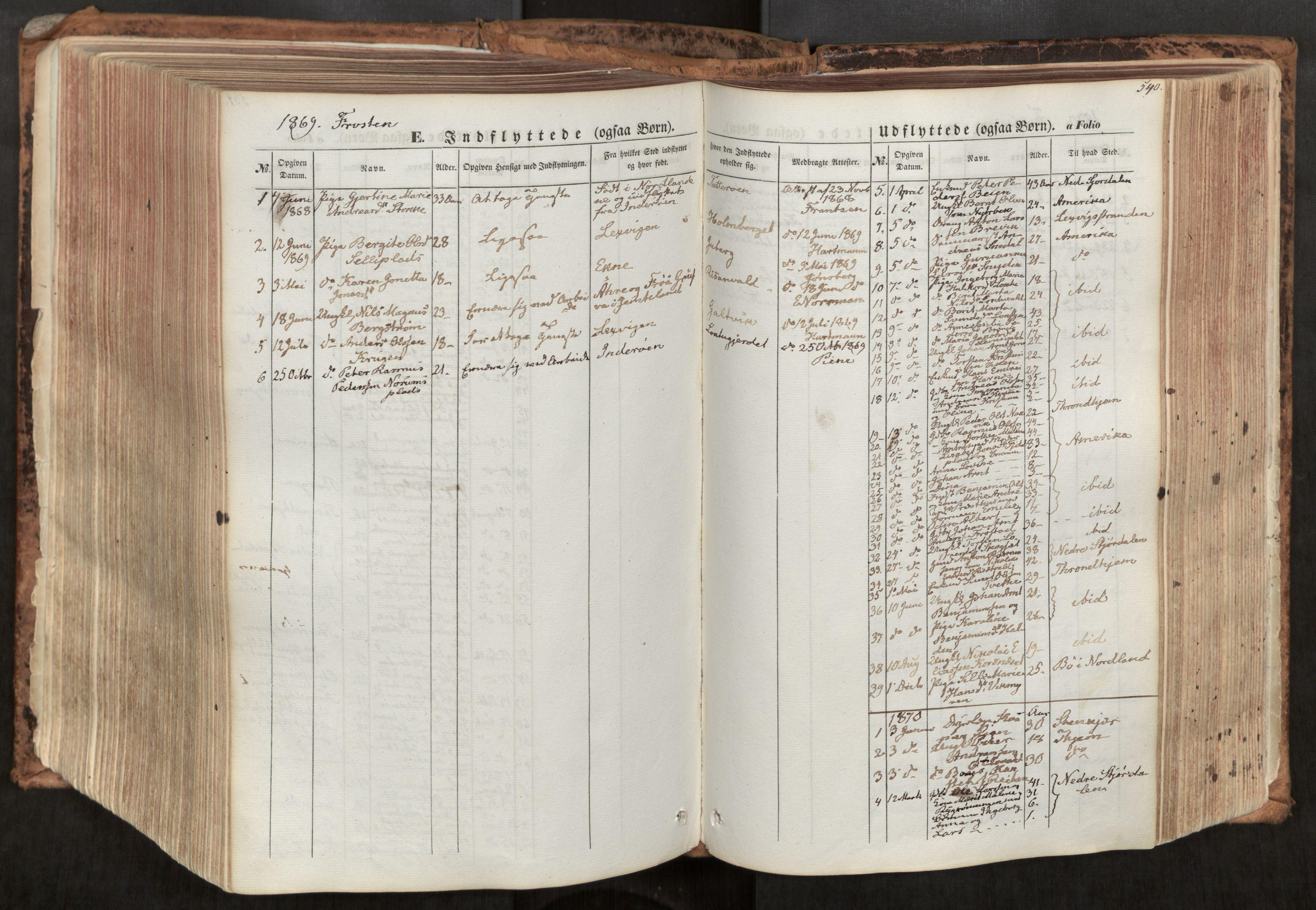 SAT, Ministerialprotokoller, klokkerbøker og fødselsregistre - Nord-Trøndelag, 713/L0116: Ministerialbok nr. 713A07, 1850-1877, s. 540