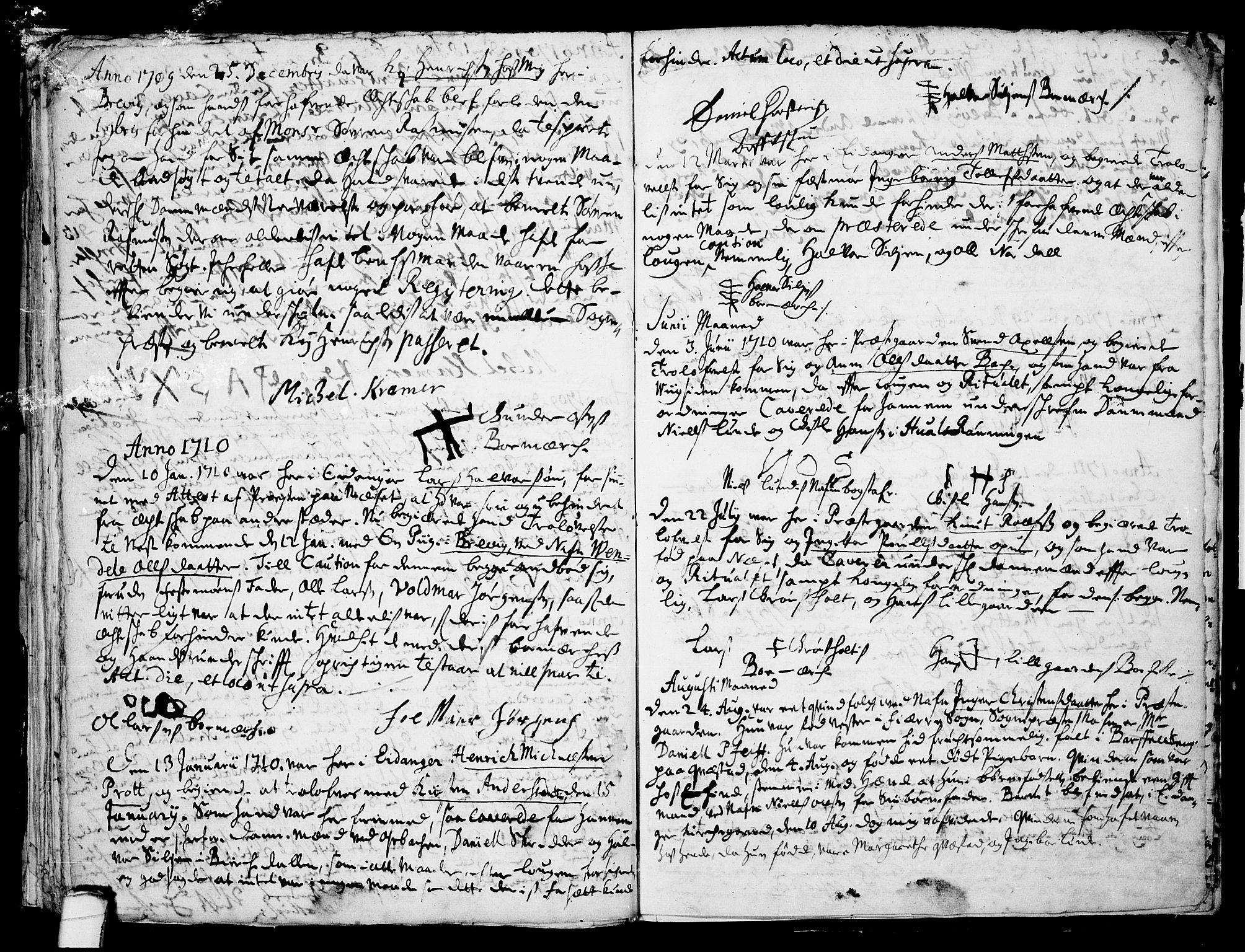 SAKO, Eidanger kirkebøker, F/Fa/L0001: Ministerialbok nr. 1, 1695-1717, s. 34