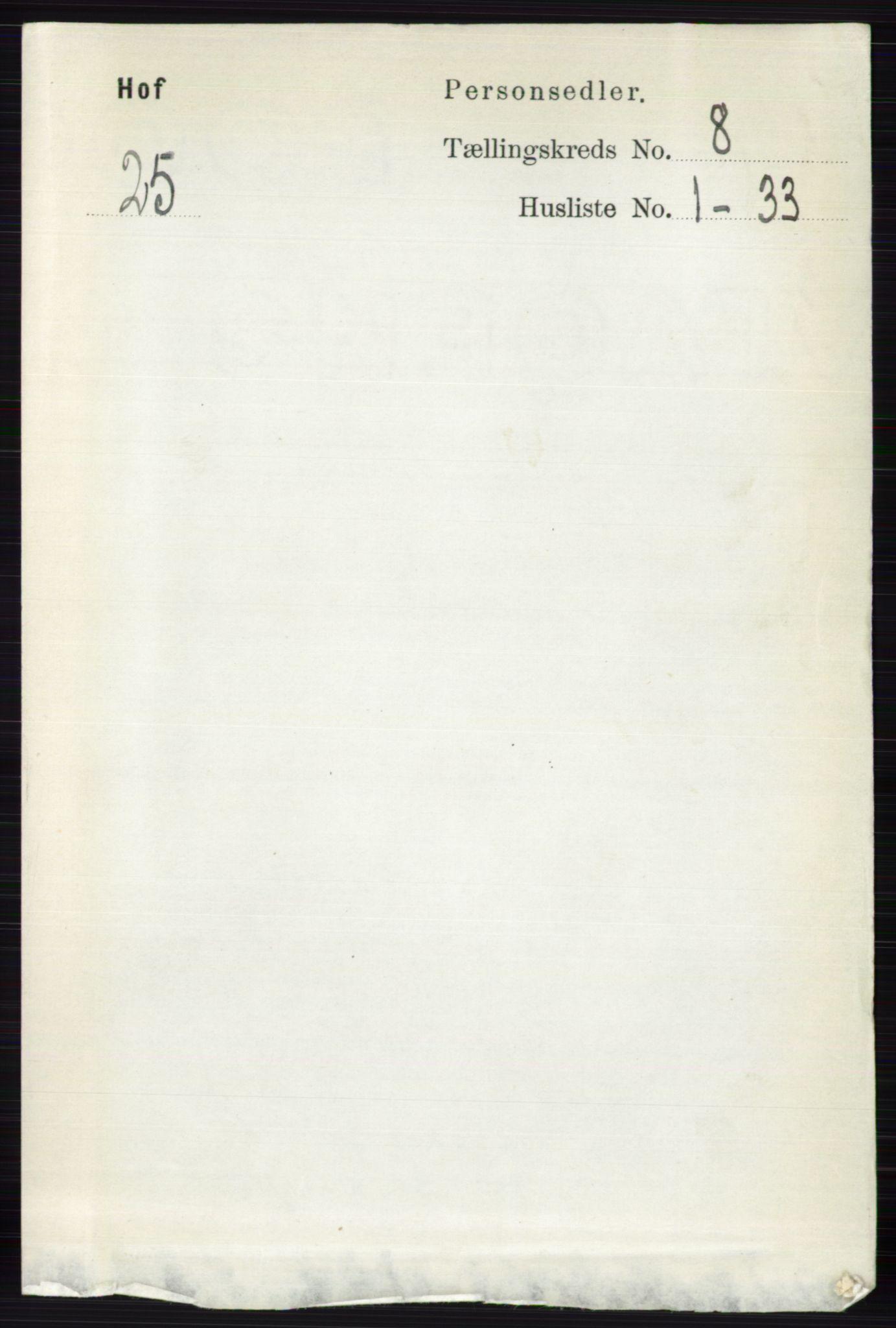 RA, Folketelling 1891 for 0424 Hof herred, 1891, s. 3210