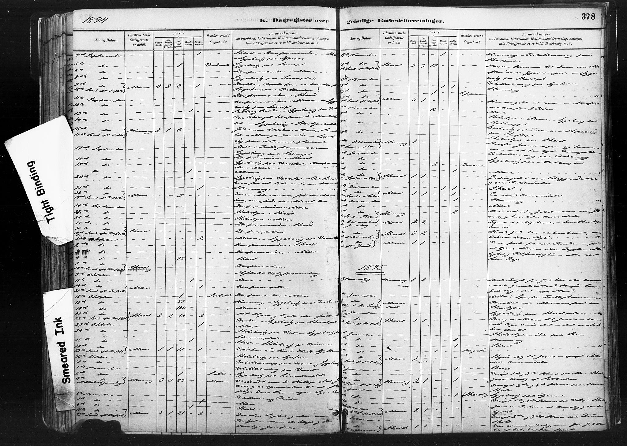 SAT, Ministerialprotokoller, klokkerbøker og fødselsregistre - Nord-Trøndelag, 735/L0351: Ministerialbok nr. 735A10, 1884-1908, s. 378