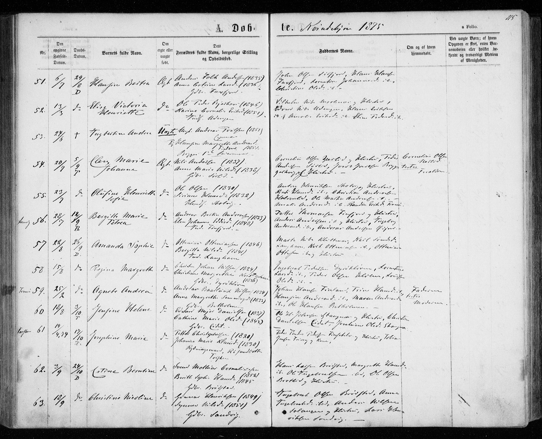 SATØ, Tranøy sokneprestkontor, I/Ia/Iaa/L0008kirke: Ministerialbok nr. 8, 1867-1877, s. 115
