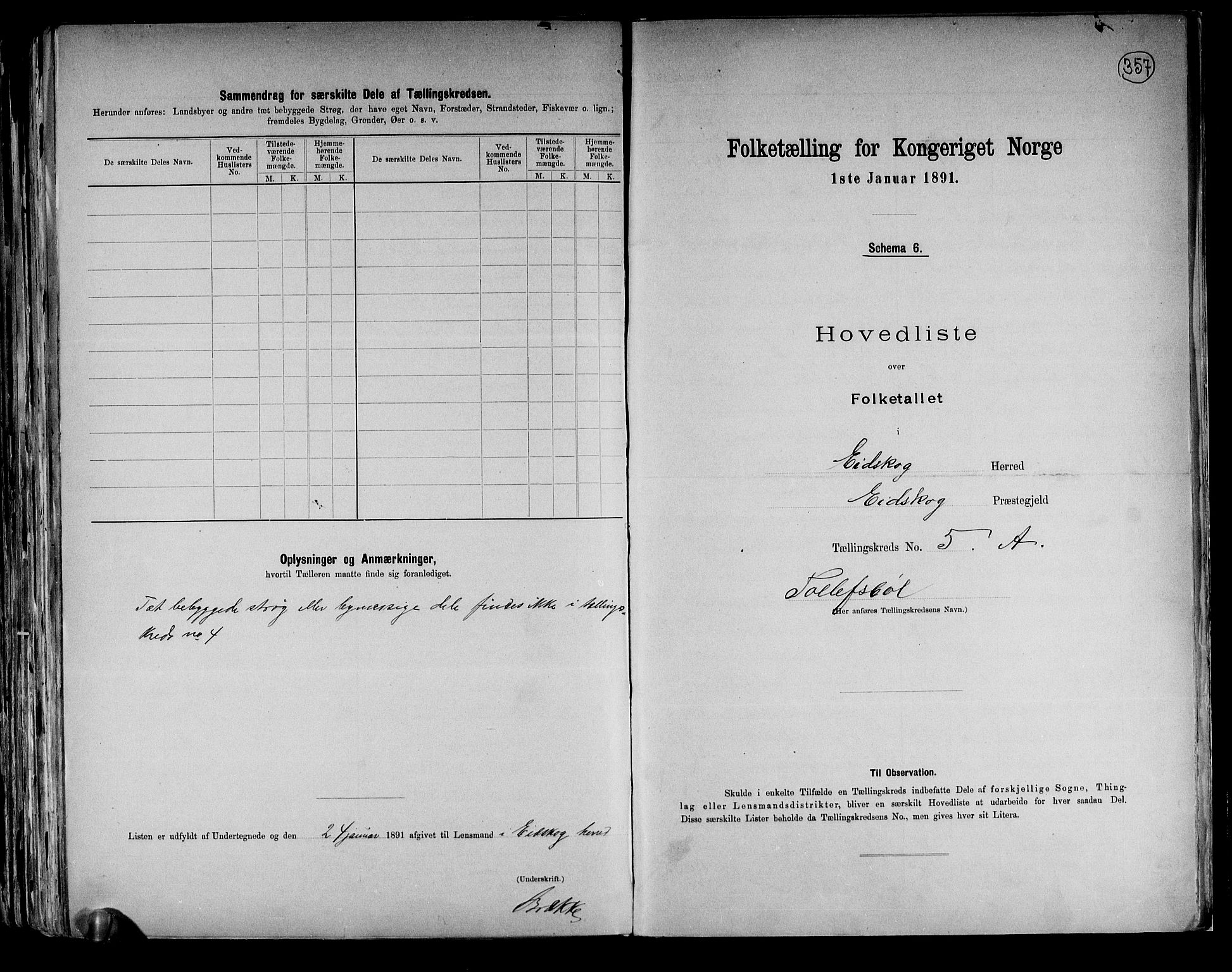 RA, Folketelling 1891 for 0420 Eidskog herred, 1891, s. 13