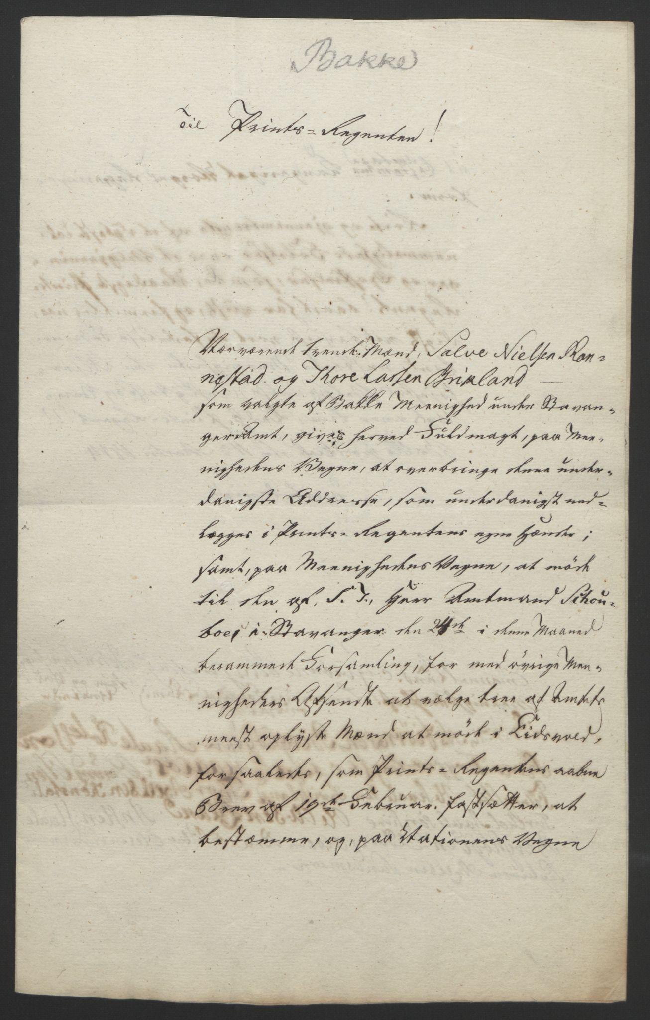 RA, Statsrådssekretariatet, D/Db/L0008: Fullmakter for Eidsvollsrepresentantene i 1814. , 1814, s. 206