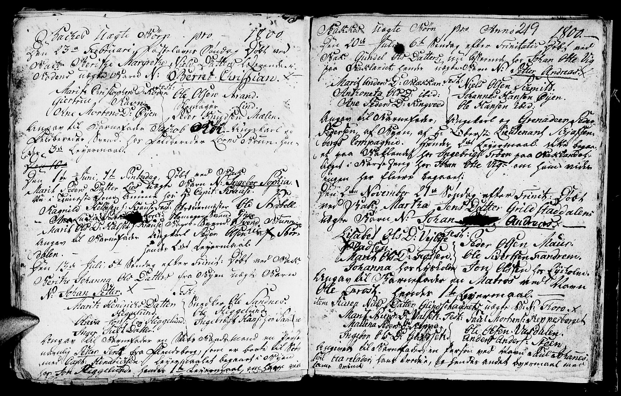 SAT, Ministerialprotokoller, klokkerbøker og fødselsregistre - Sør-Trøndelag, 604/L0218: Klokkerbok nr. 604C01, 1754-1819, s. 219