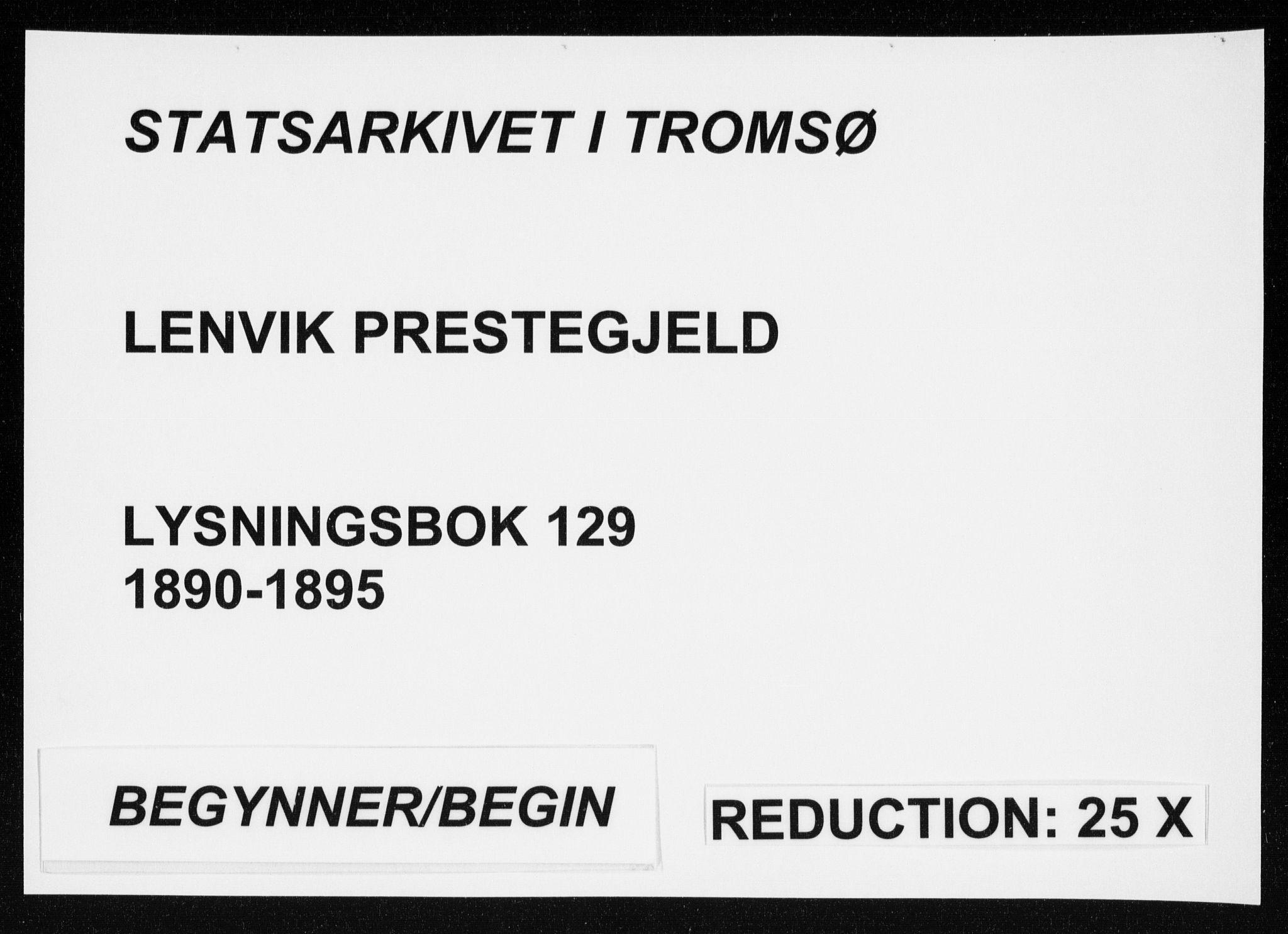 SATØ, Lenvik sokneprestembete, I/Ie/L0129: Lysningsprotokoll nr. 129, 1890-1895