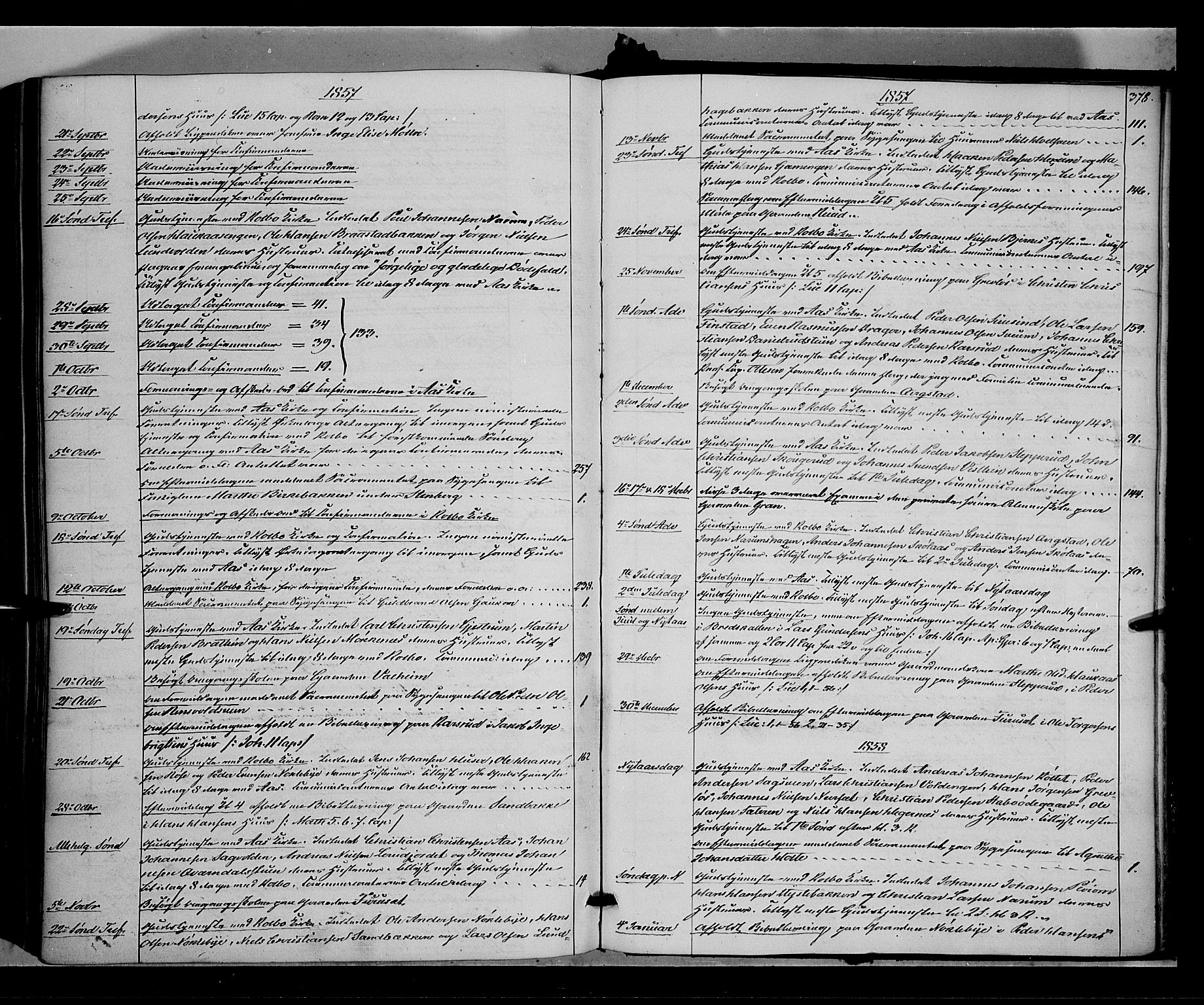 SAH, Vestre Toten prestekontor, H/Ha/Haa/L0006: Ministerialbok nr. 6, 1856-1861, s. 378