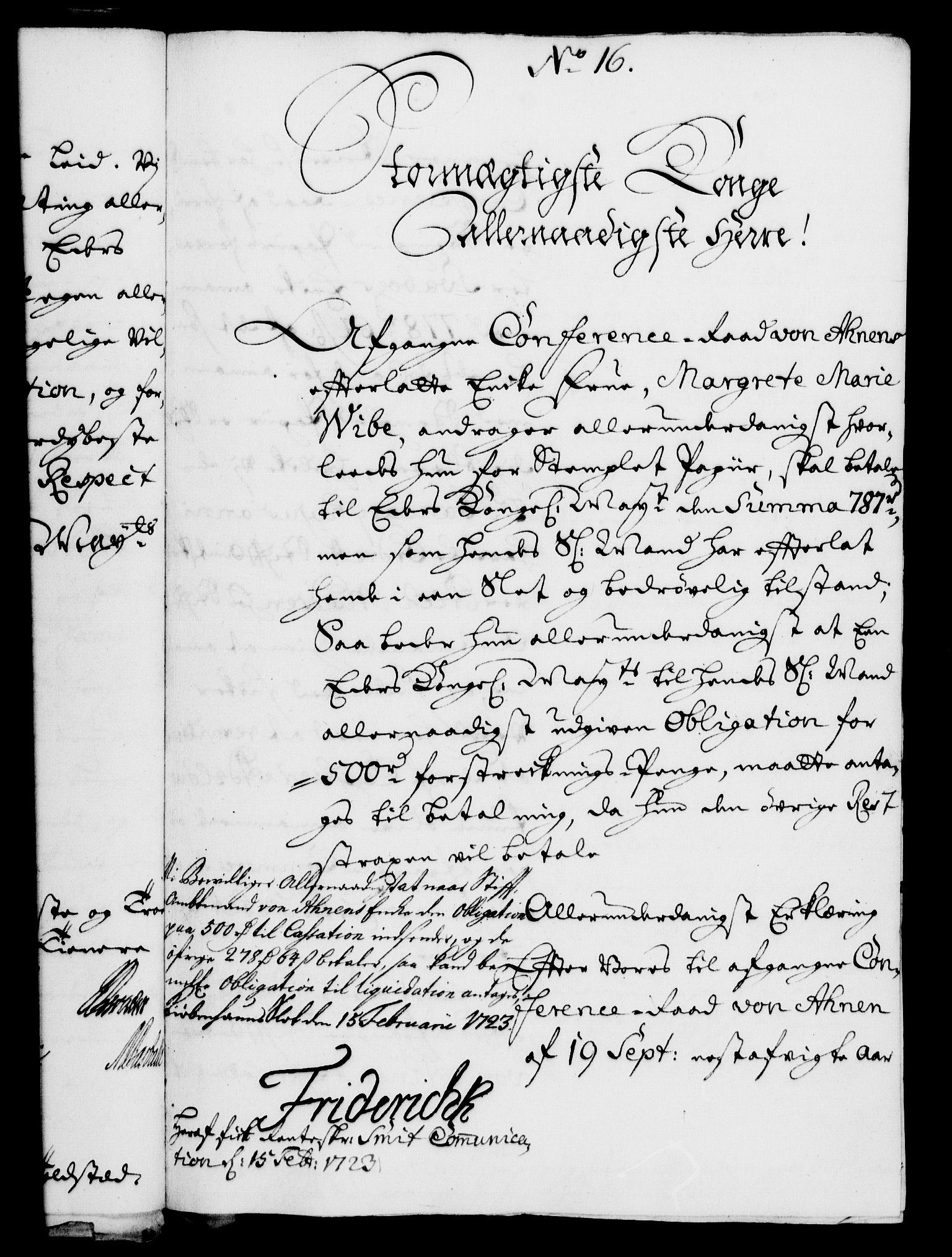 RA, Rentekammeret, Kammerkanselliet, G/Gf/Gfa/L0006: Norsk relasjons- og resolusjonsprotokoll (merket RK 52.6), 1723, s. 123