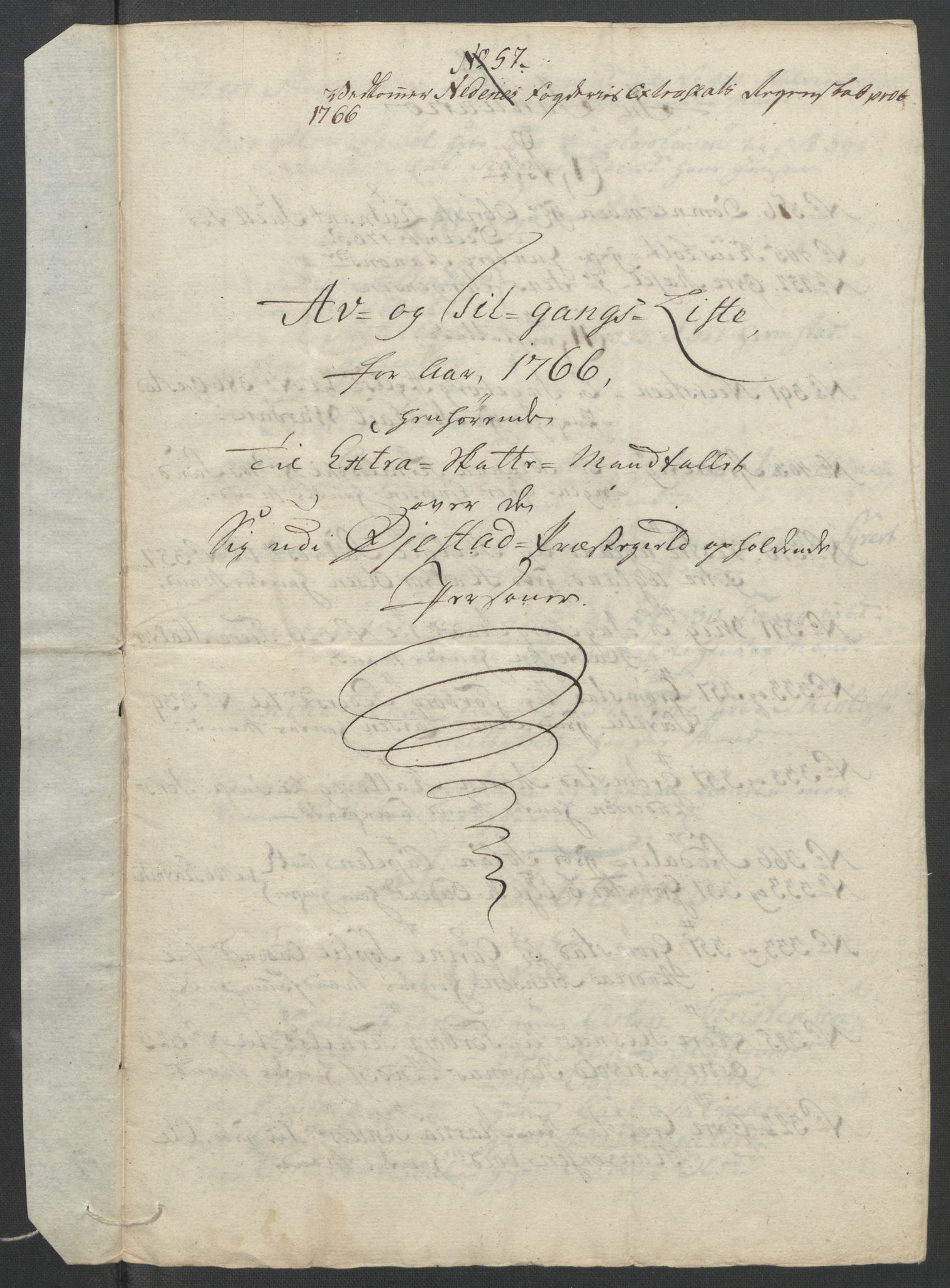 RA, Rentekammeret inntil 1814, Reviderte regnskaper, Fogderegnskap, R39/L2424: Ekstraskatten Nedenes, 1762-1767, s. 316