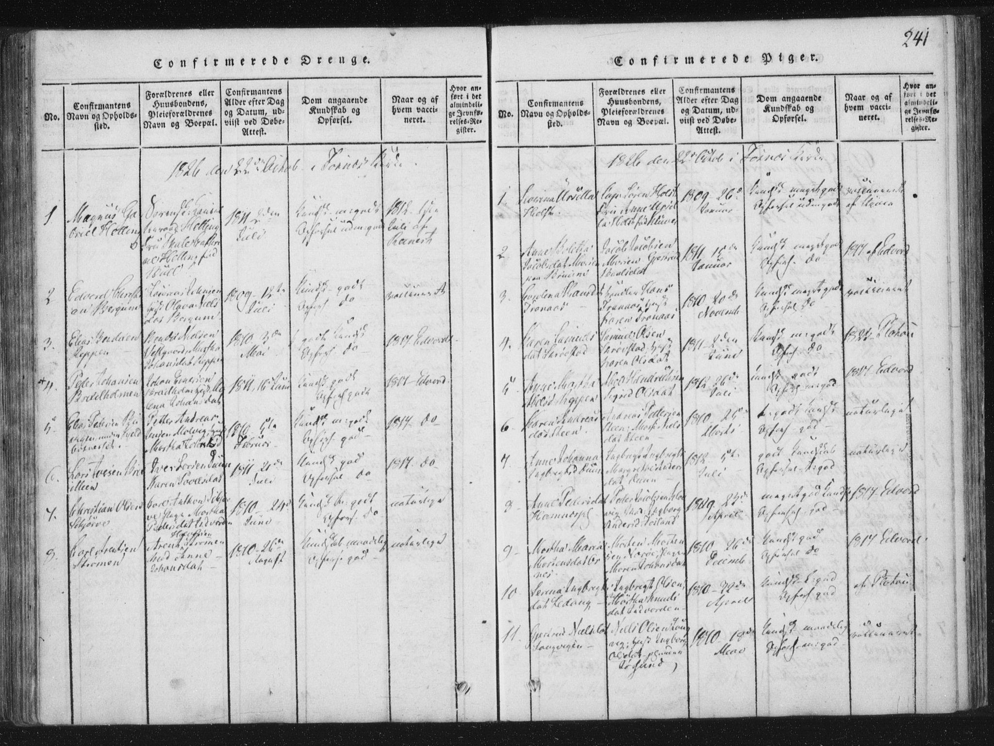 SAT, Ministerialprotokoller, klokkerbøker og fødselsregistre - Nord-Trøndelag, 773/L0609: Ministerialbok nr. 773A03 /1, 1815-1830, s. 241