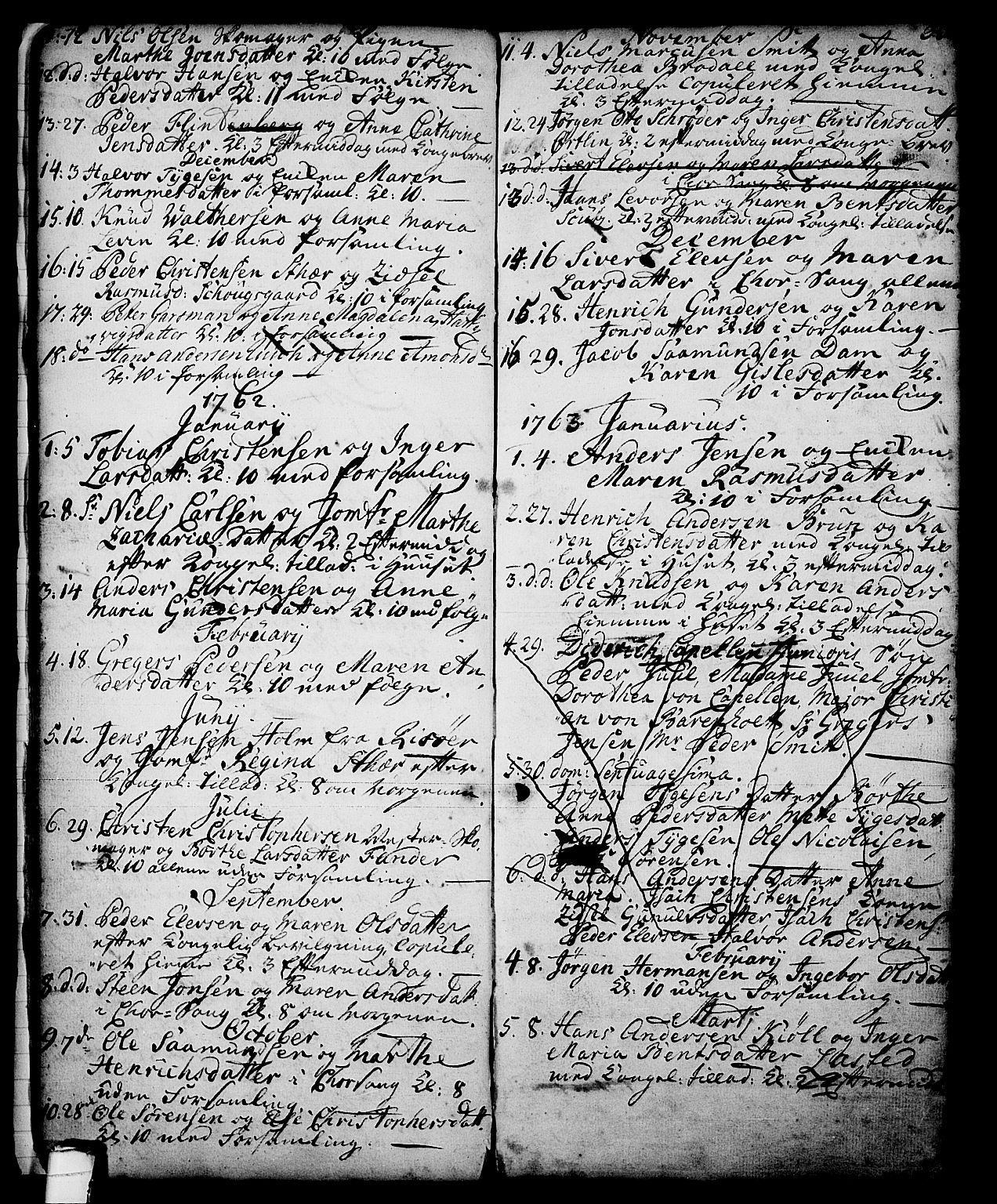 SAKO, Skien kirkebøker, G/Ga/L0001: Klokkerbok nr. 1, 1756-1791, s. 33