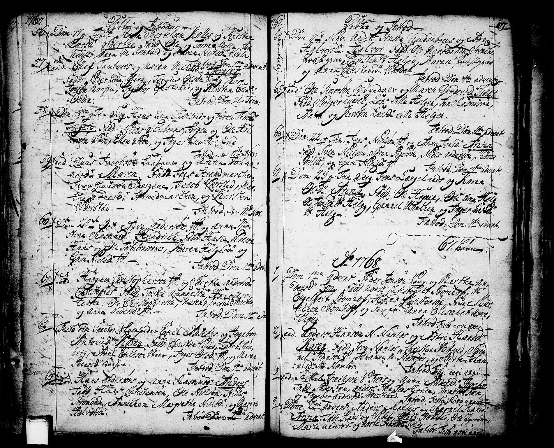 SAKO, Holla kirkebøker, F/Fa/L0001: Ministerialbok nr. 1, 1717-1779, s. 107