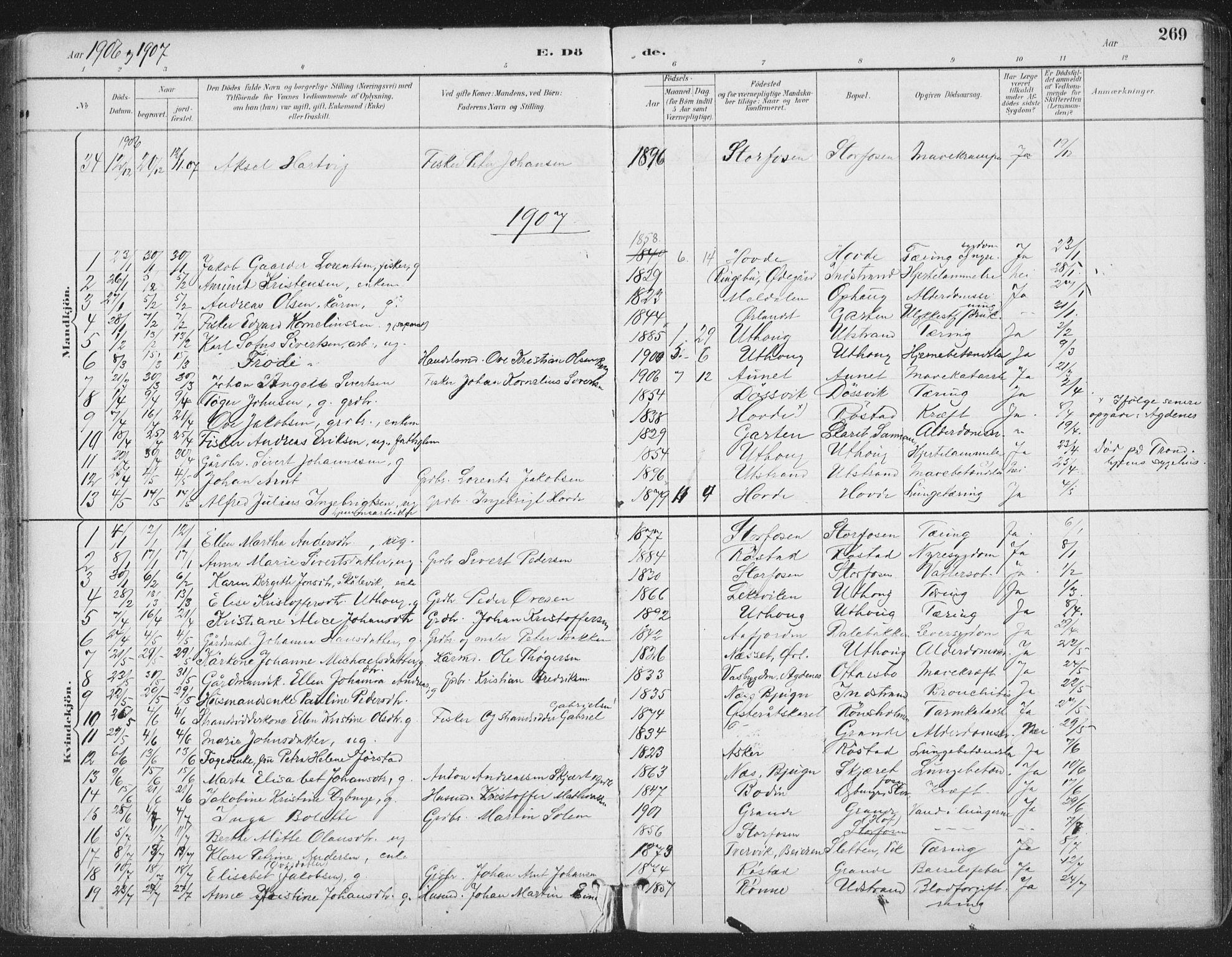 SAT, Ministerialprotokoller, klokkerbøker og fødselsregistre - Sør-Trøndelag, 659/L0743: Ministerialbok nr. 659A13, 1893-1910, s. 269
