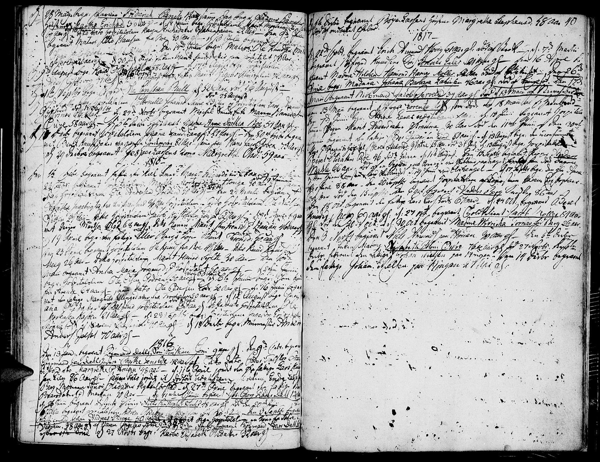 SAT, Ministerialprotokoller, klokkerbøker og fødselsregistre - Møre og Romsdal, 558/L0687: Ministerialbok nr. 558A01, 1798-1818, s. 40